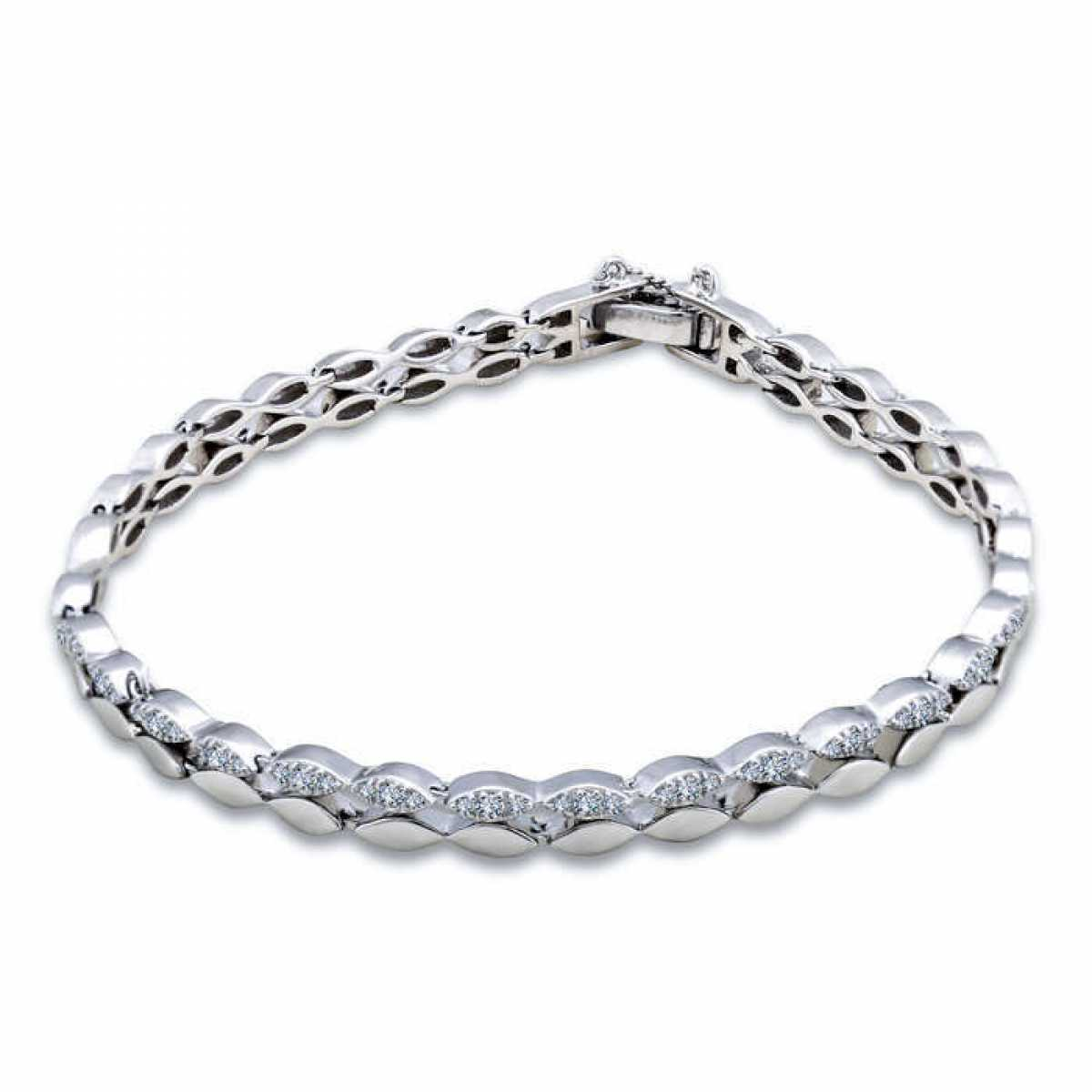Plain Shape With Diamond Bracelet