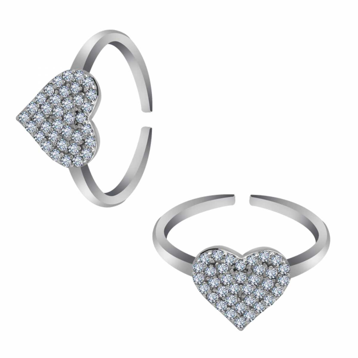 Classic Heart Silver Toe Ring