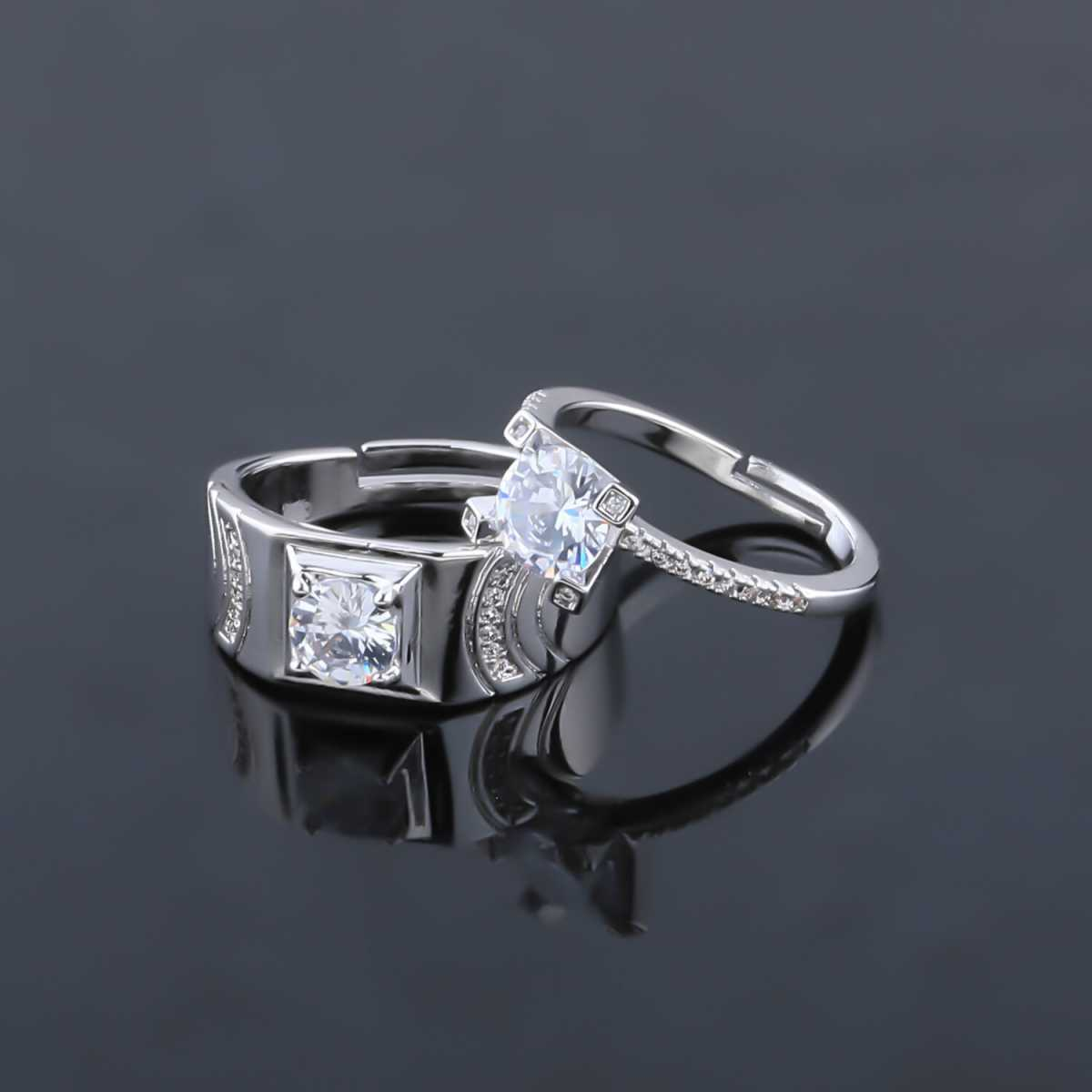 SILVERSHINE,silver plated simple soft look ring for women and bear look ring for men,couple ring for men and women.
