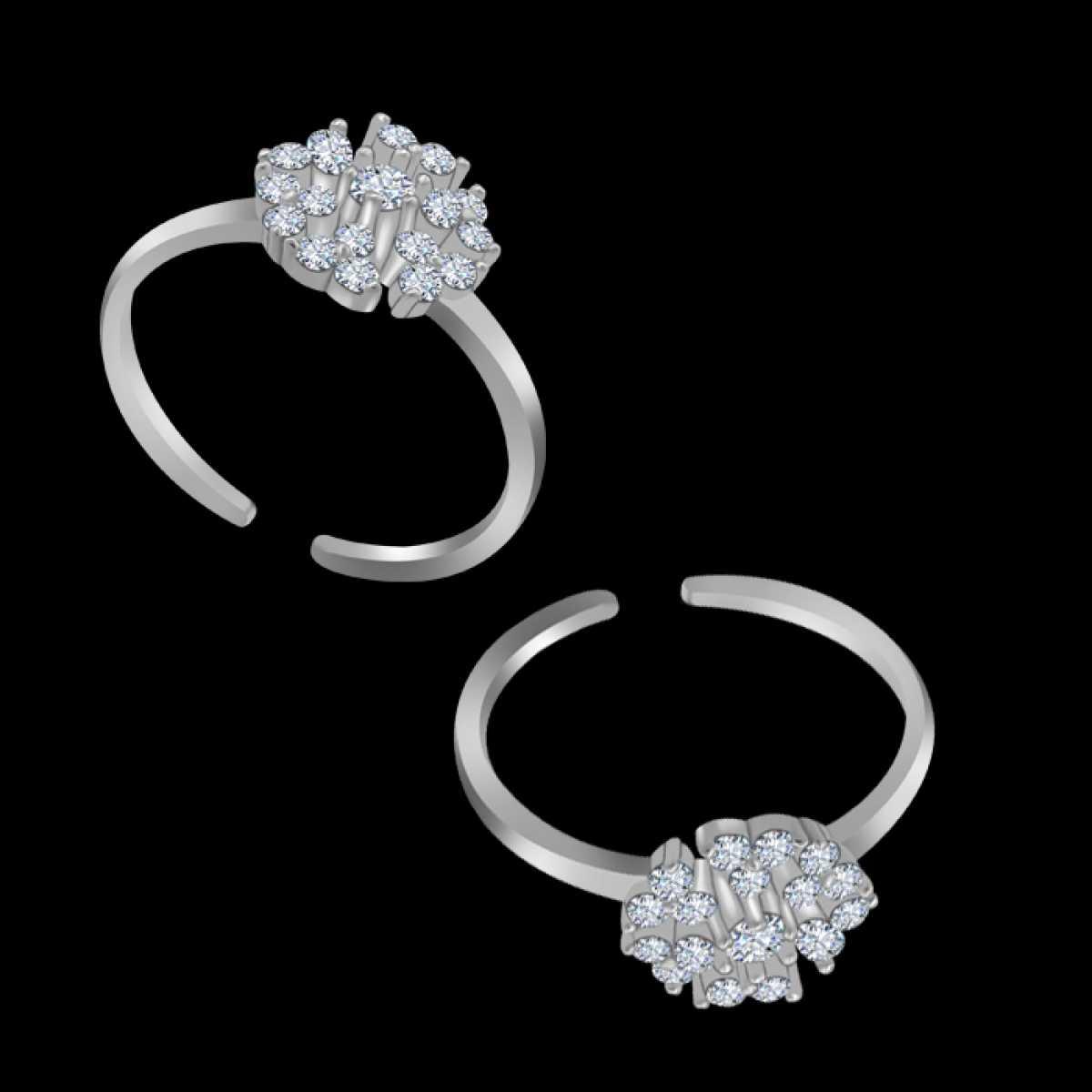 Small Triangle Silver Toe Ring