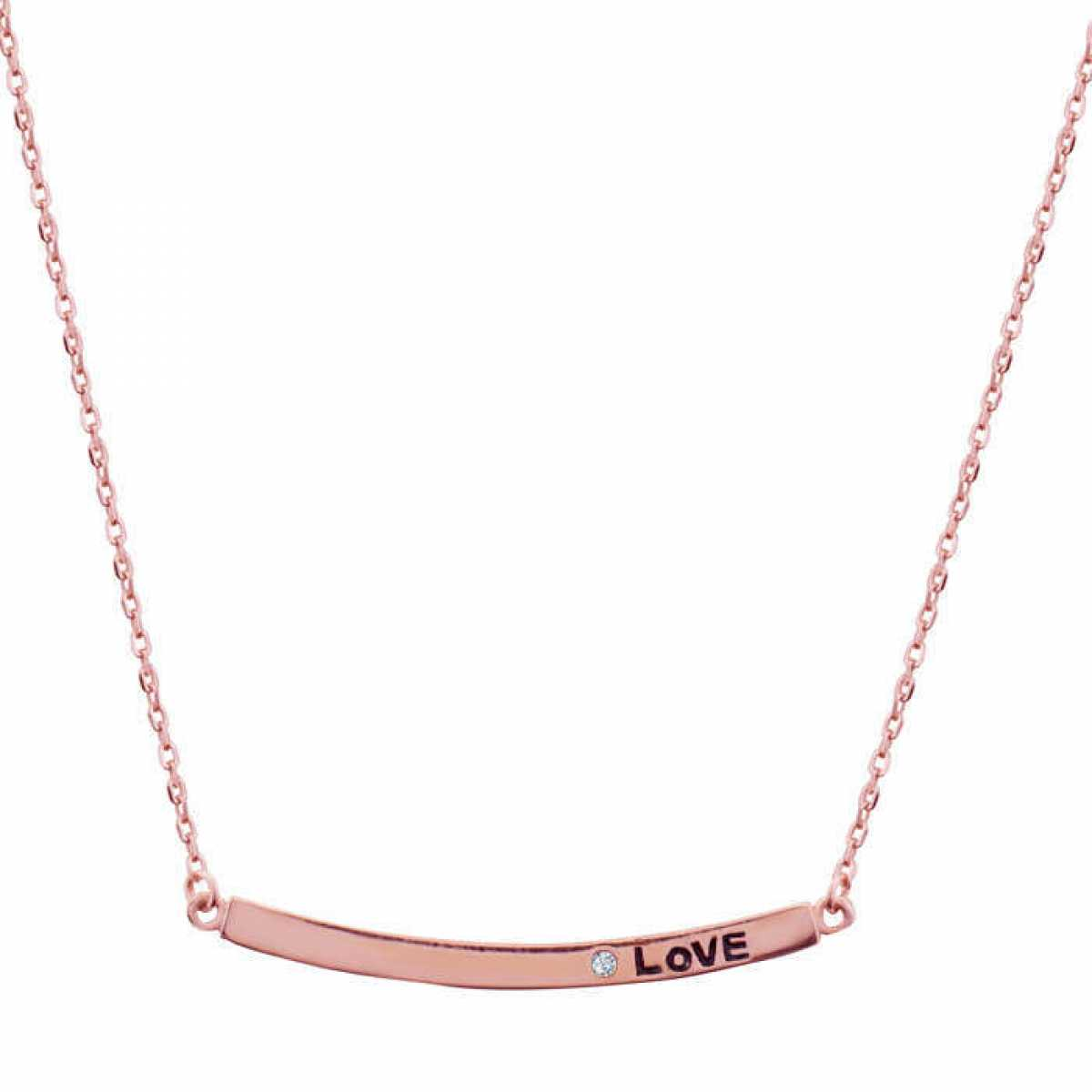 Love Single Diamond Chain