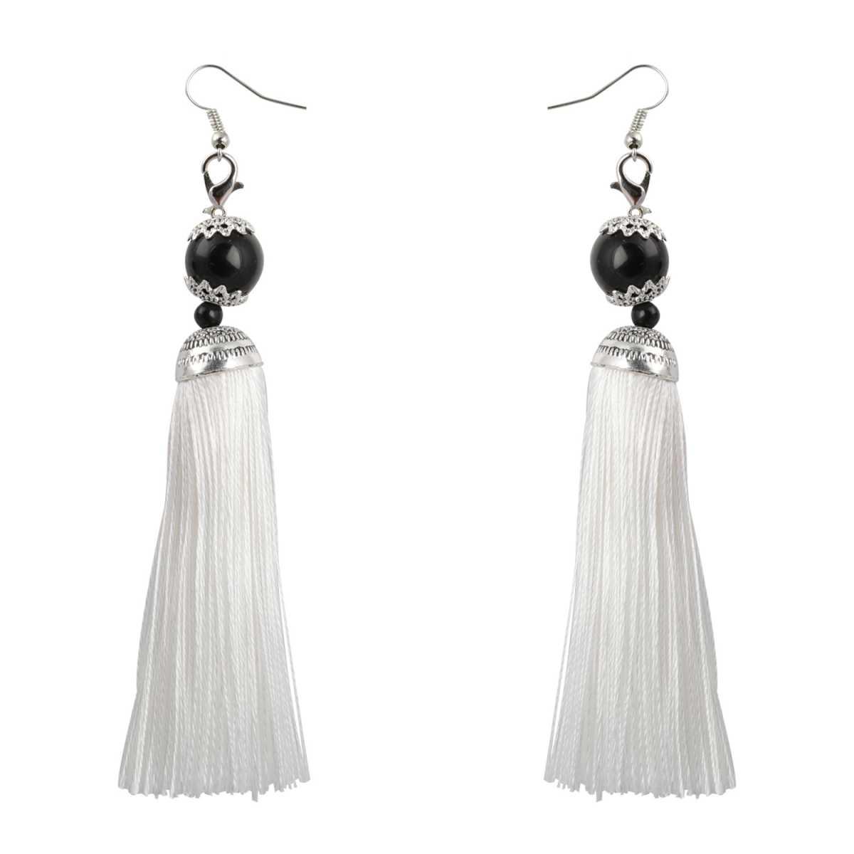 silver shine Spunky Long Thread Tassel