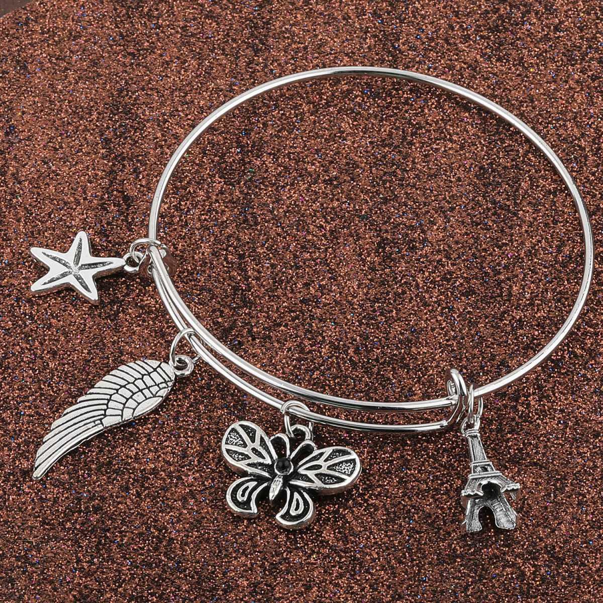 SILVER SHINE Stylish Designer Oxidised Adjustable Bracelet For Women Girls