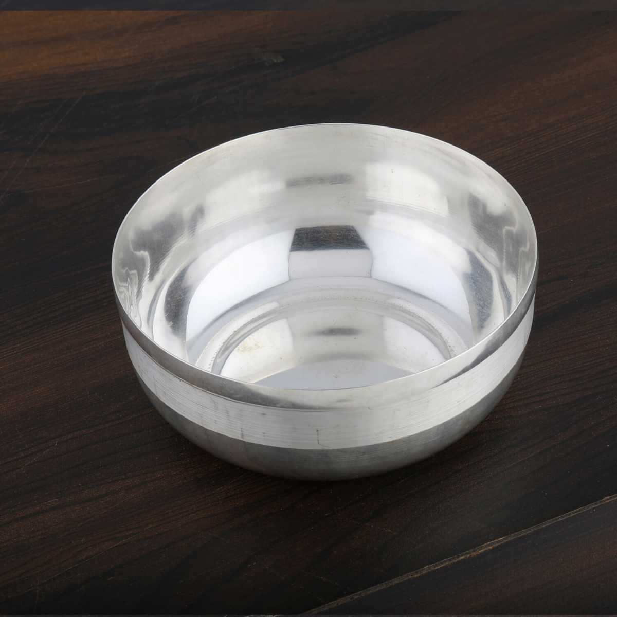 Silver Shine Silver Plated Small Bowl For Multi Purpose use Set of 1