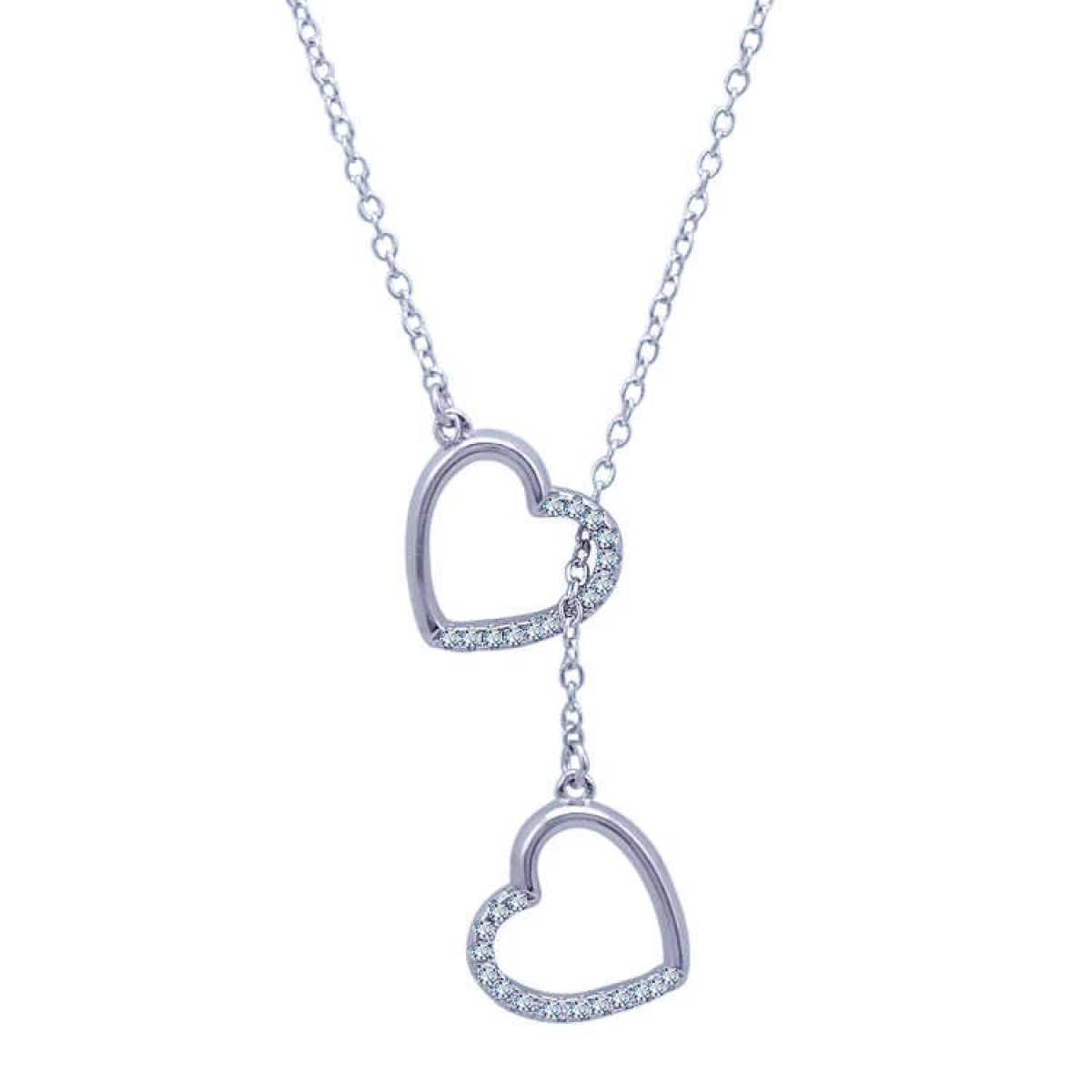 Heart Into Heart Hanging  Chain