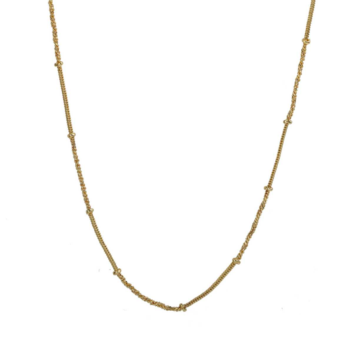 Silver Shine Gorgeous Gold Plated Chain Jewellry Beautifully Design 20 Inch For Daily Wear For All Genders
