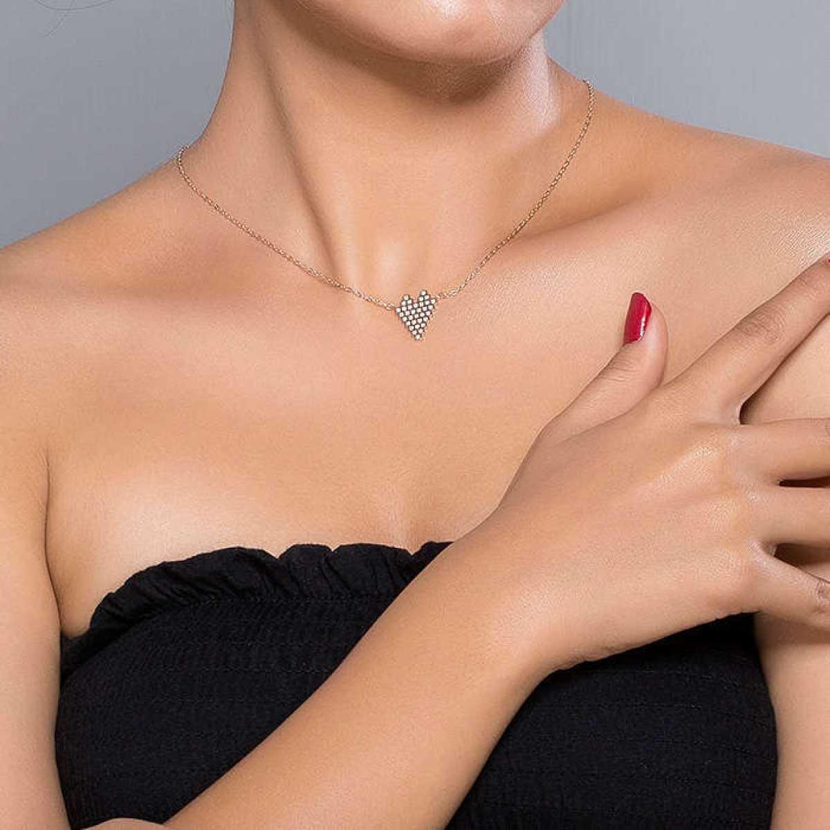 Box Heart Diamond Chain