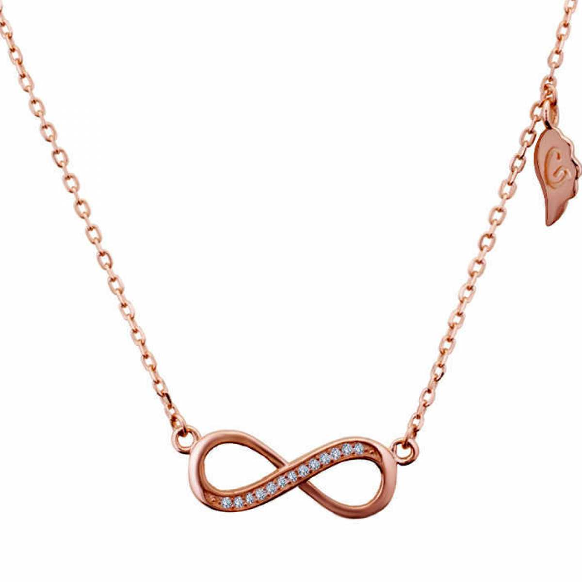 Hanging Eight Shape Rose Gold Chain