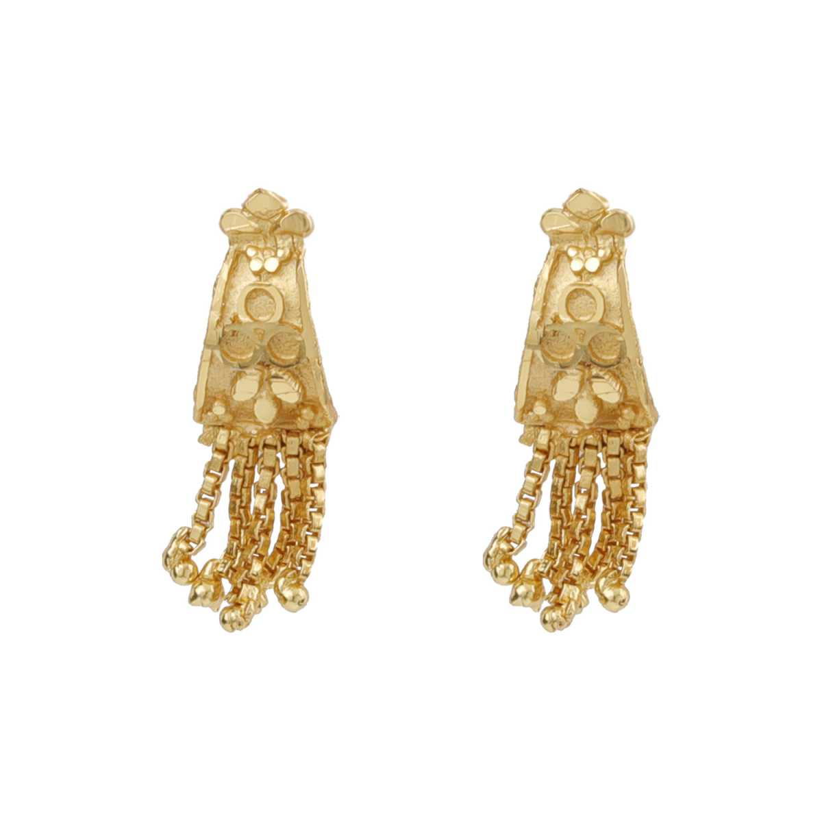 Silver Shine Charming Gold Lovely Traditional Push Back Earring Danglers For Women