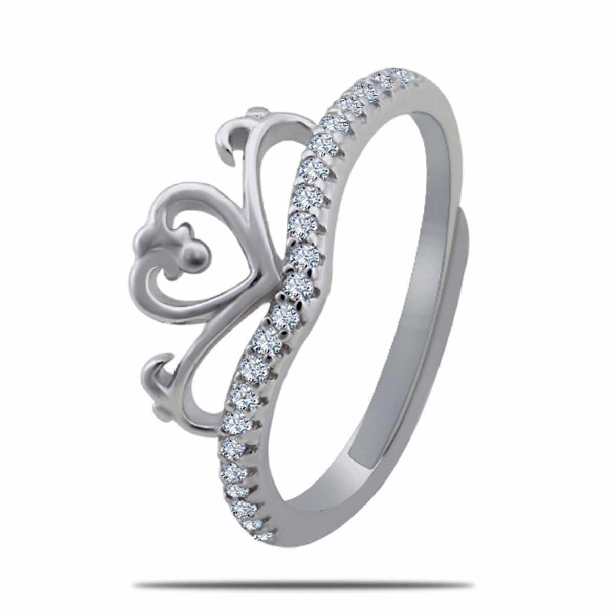 Queen Heart Silver Ring