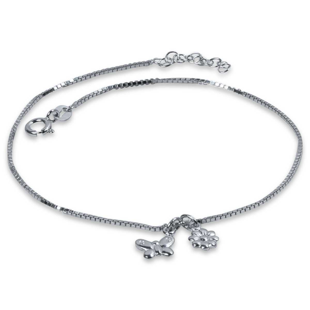 Charming Butterfly Flower Anklet