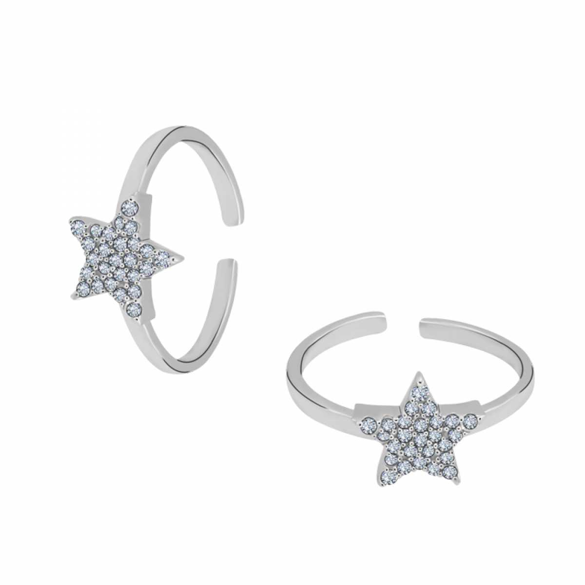 Small Star Diamond Toe Ring