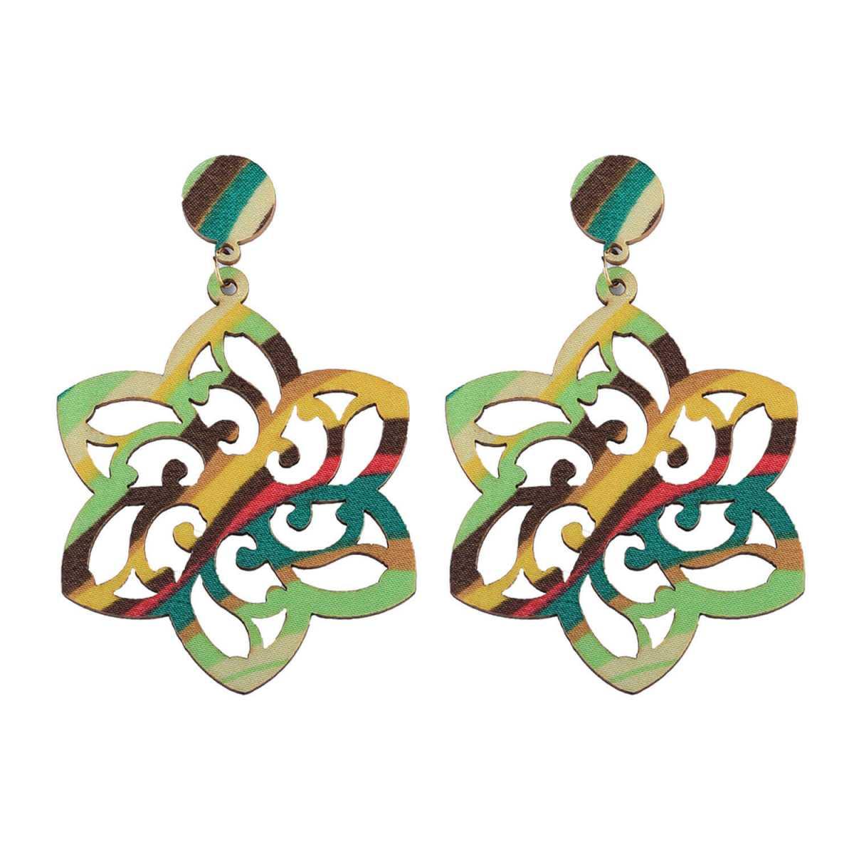 SILVER SHINE Party Wear Dangler Wooden Earrings For Girls and Women …