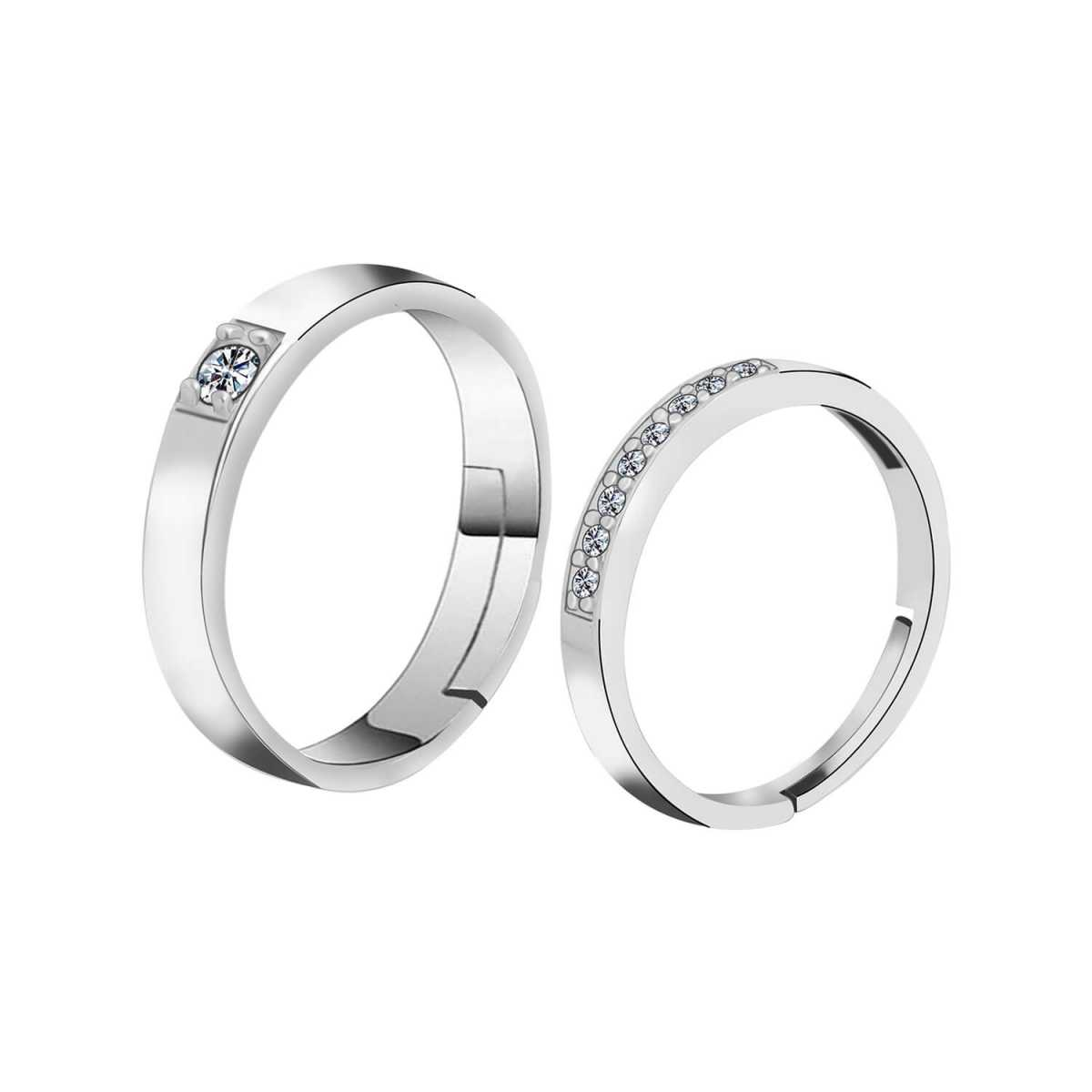 Silverplated  Designer  couple ring For Men And Women Jewellery