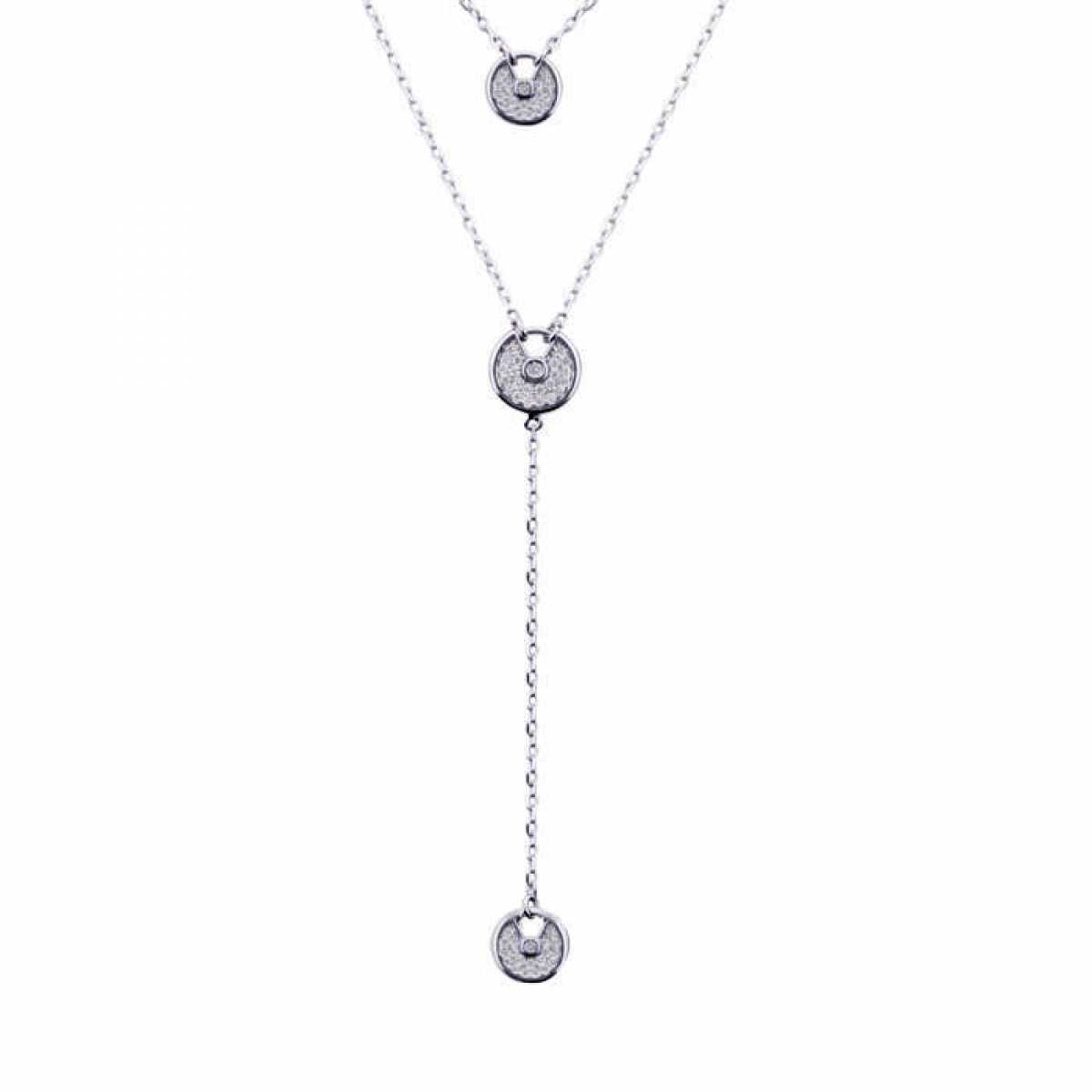 Hanging Silver Circle In Chain