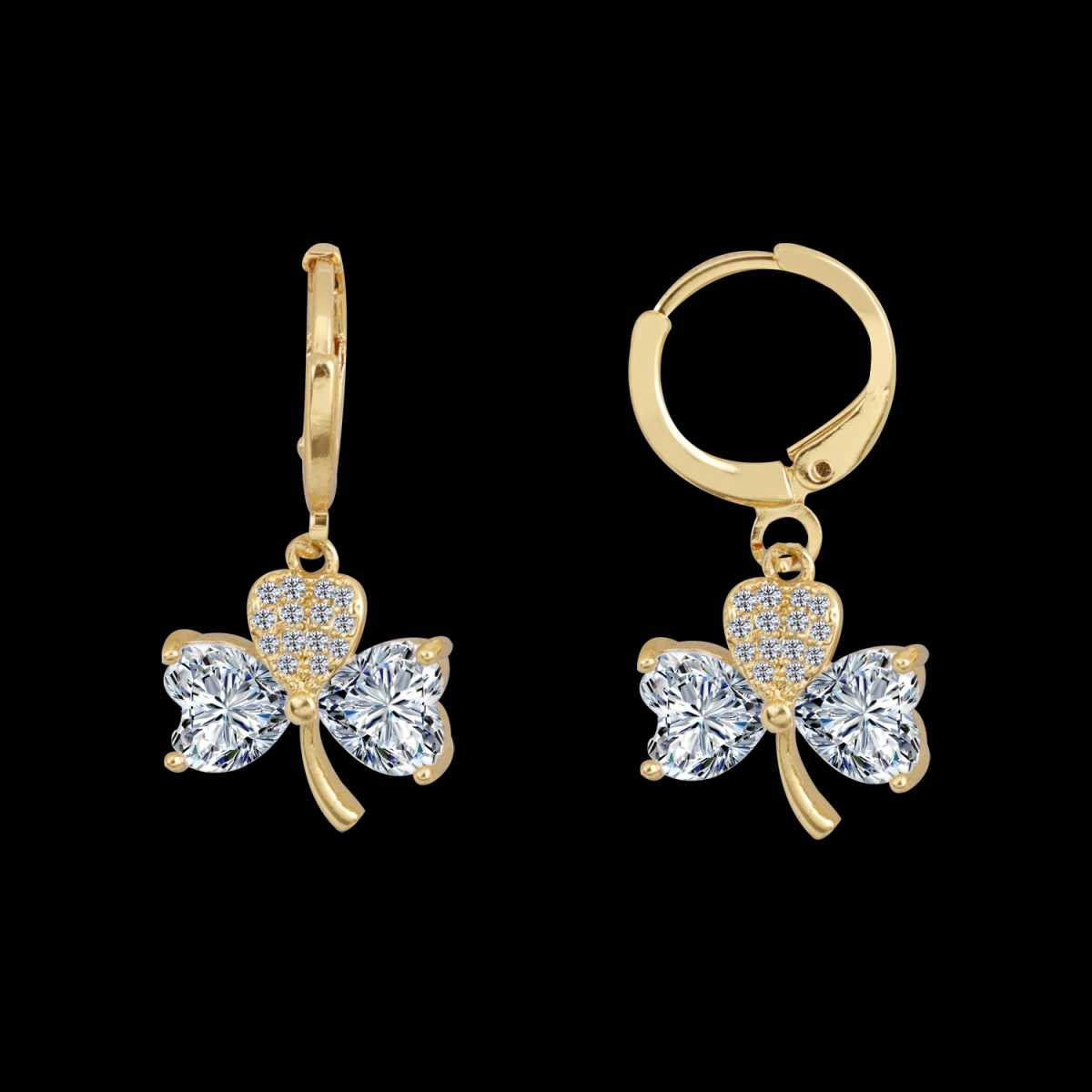 Silver Shine Magnificent Golden Round Clip On Bali Earring for Women