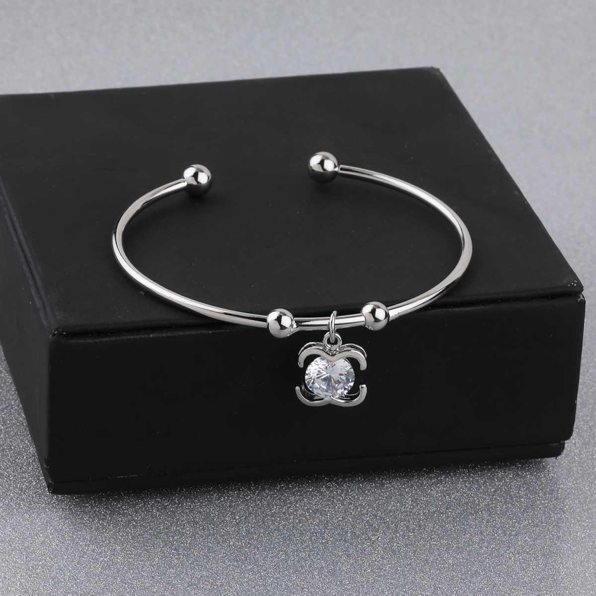 SILVER SHINE Party Wear Fancy Look Adjustable Bracelet With Diamond For Women Girls