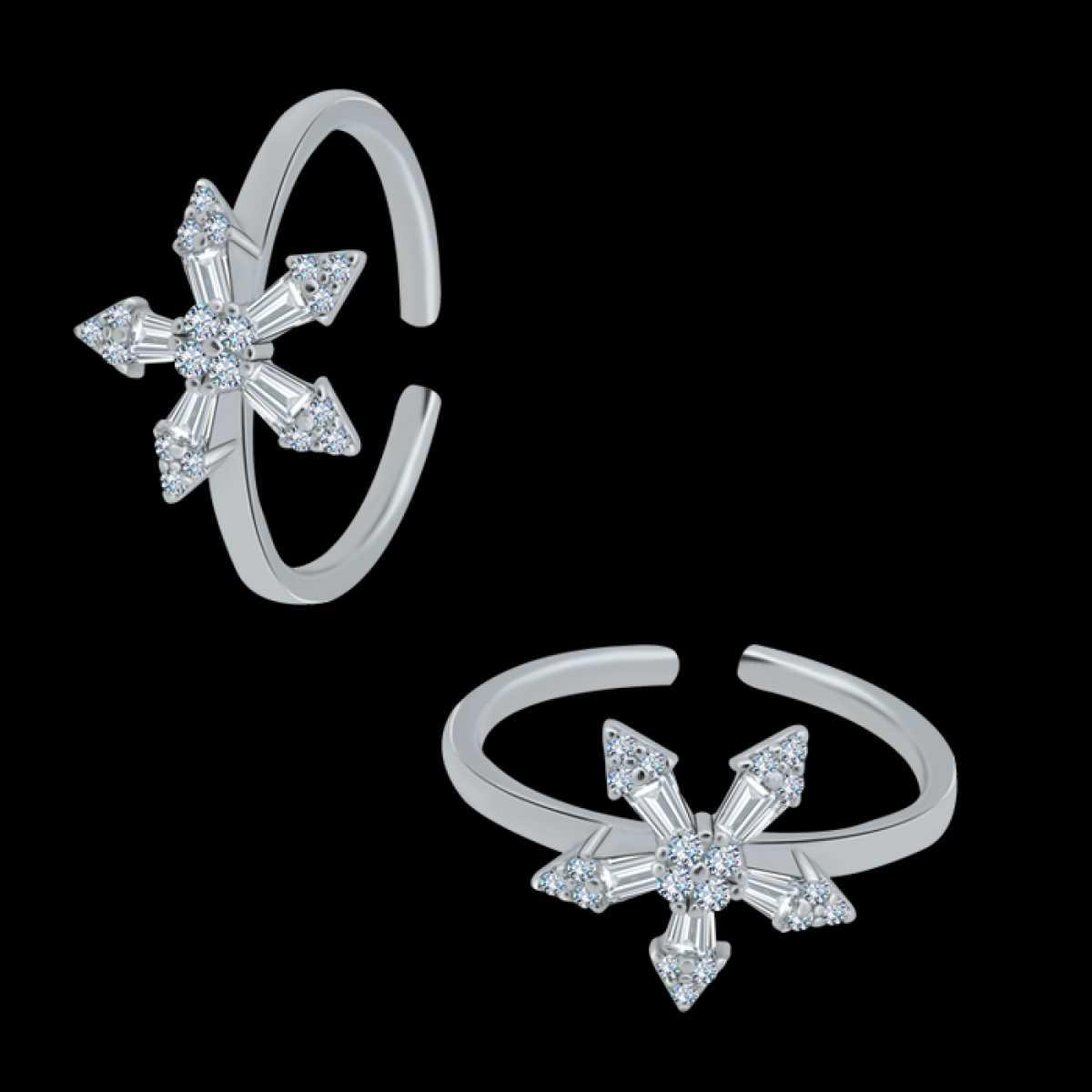 Unique Star Diamond Toe Ring