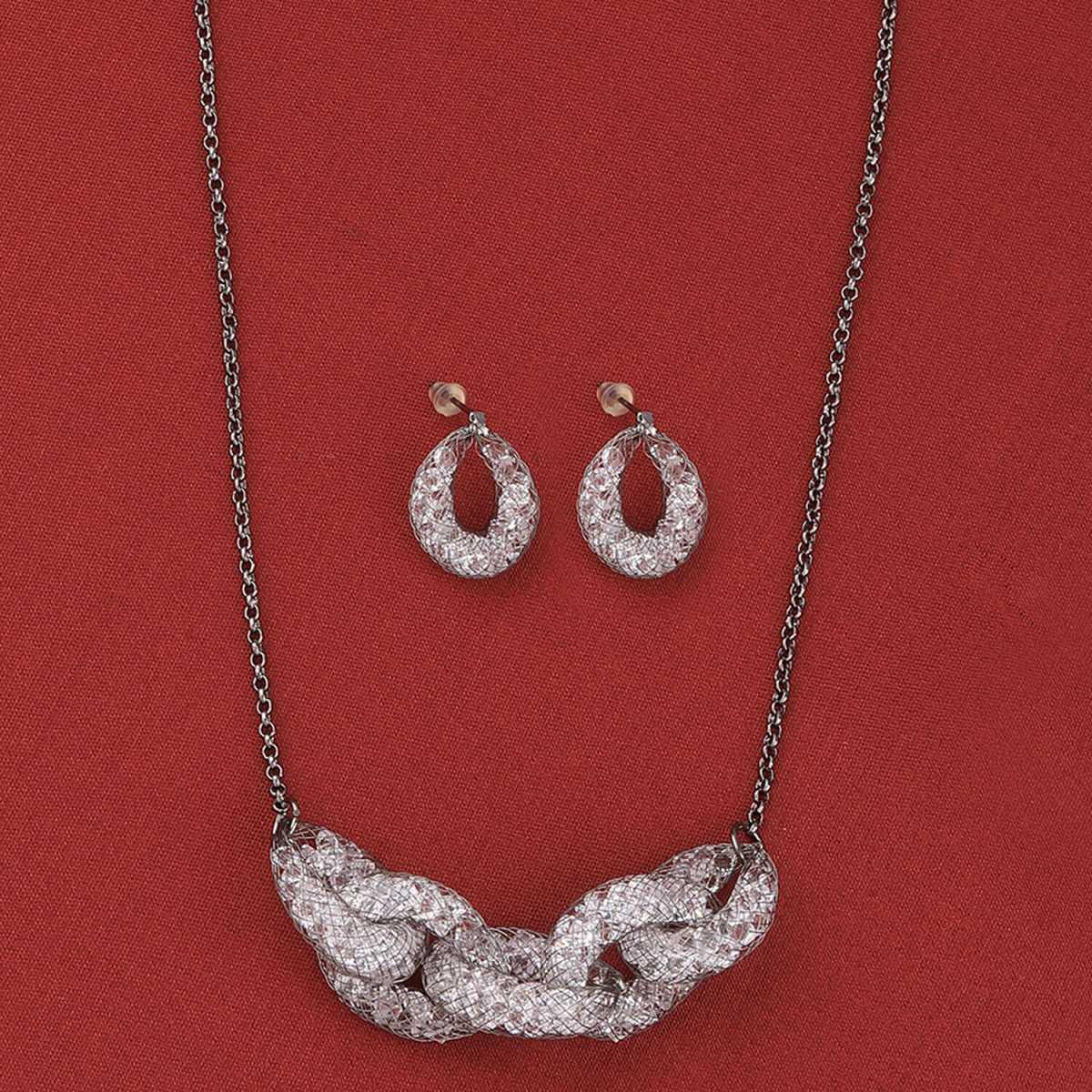 SILVER SHINE Amazing  Party Wear Different Designe Pendant Set For Women Girl