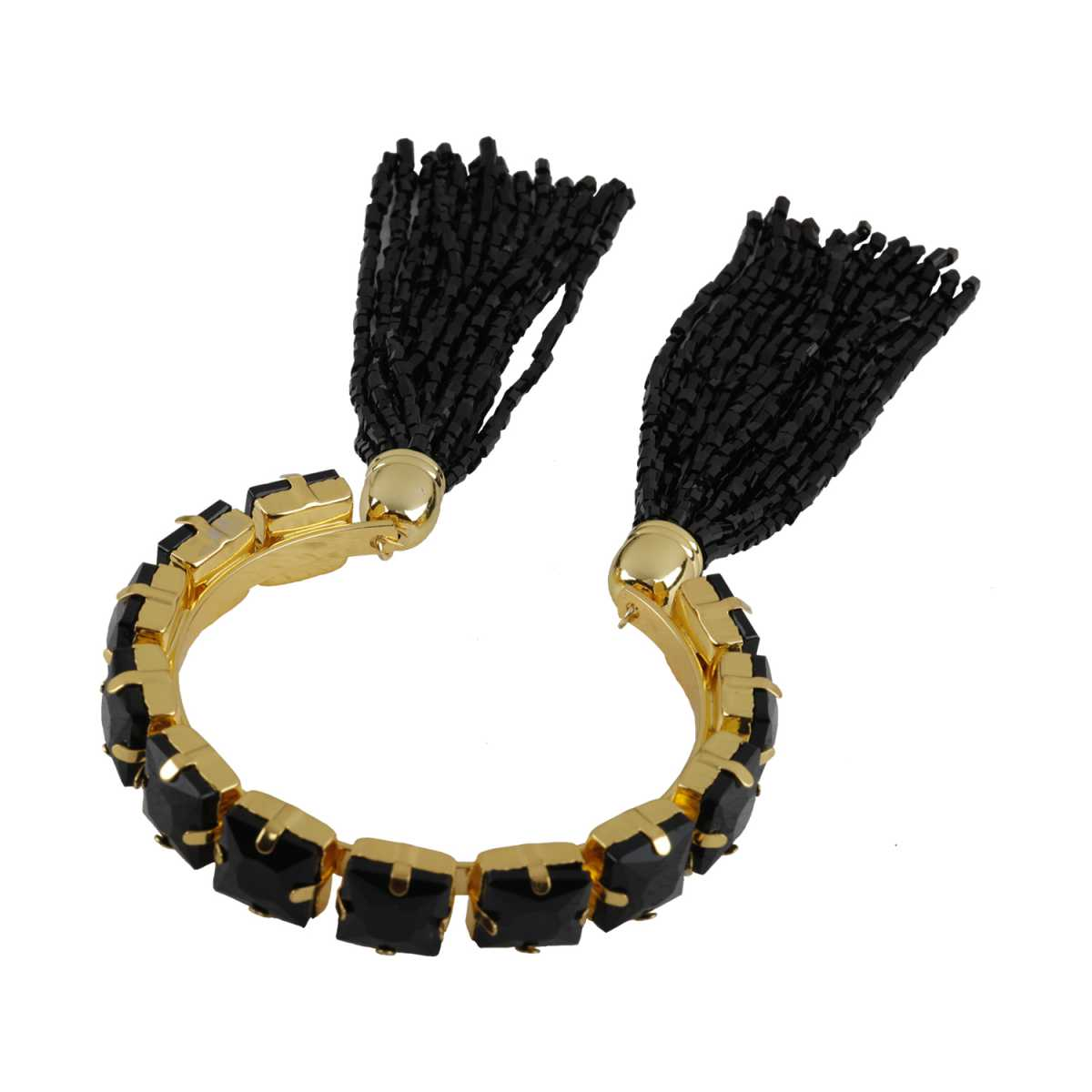 Elegant Black Colour Stone Harmony Coff And Kada Bracelet For Girls And Women