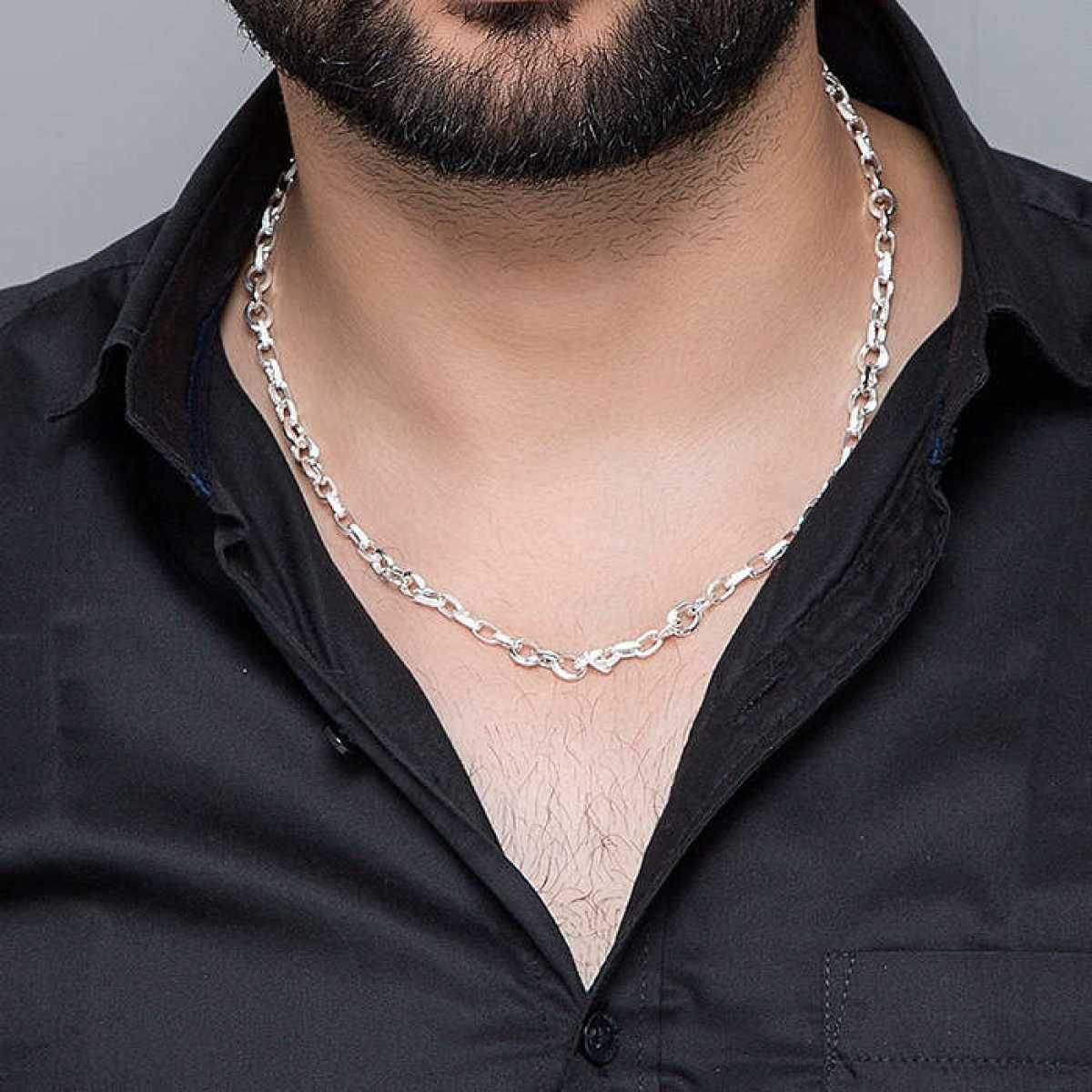 Hip Hope Silver Chain for Men
