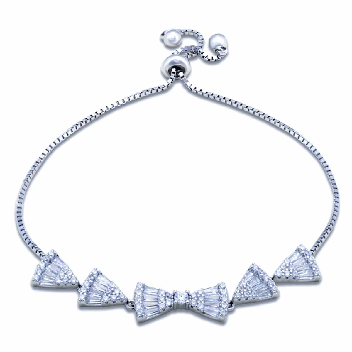 Triangle With Baw Diamond Bracelet