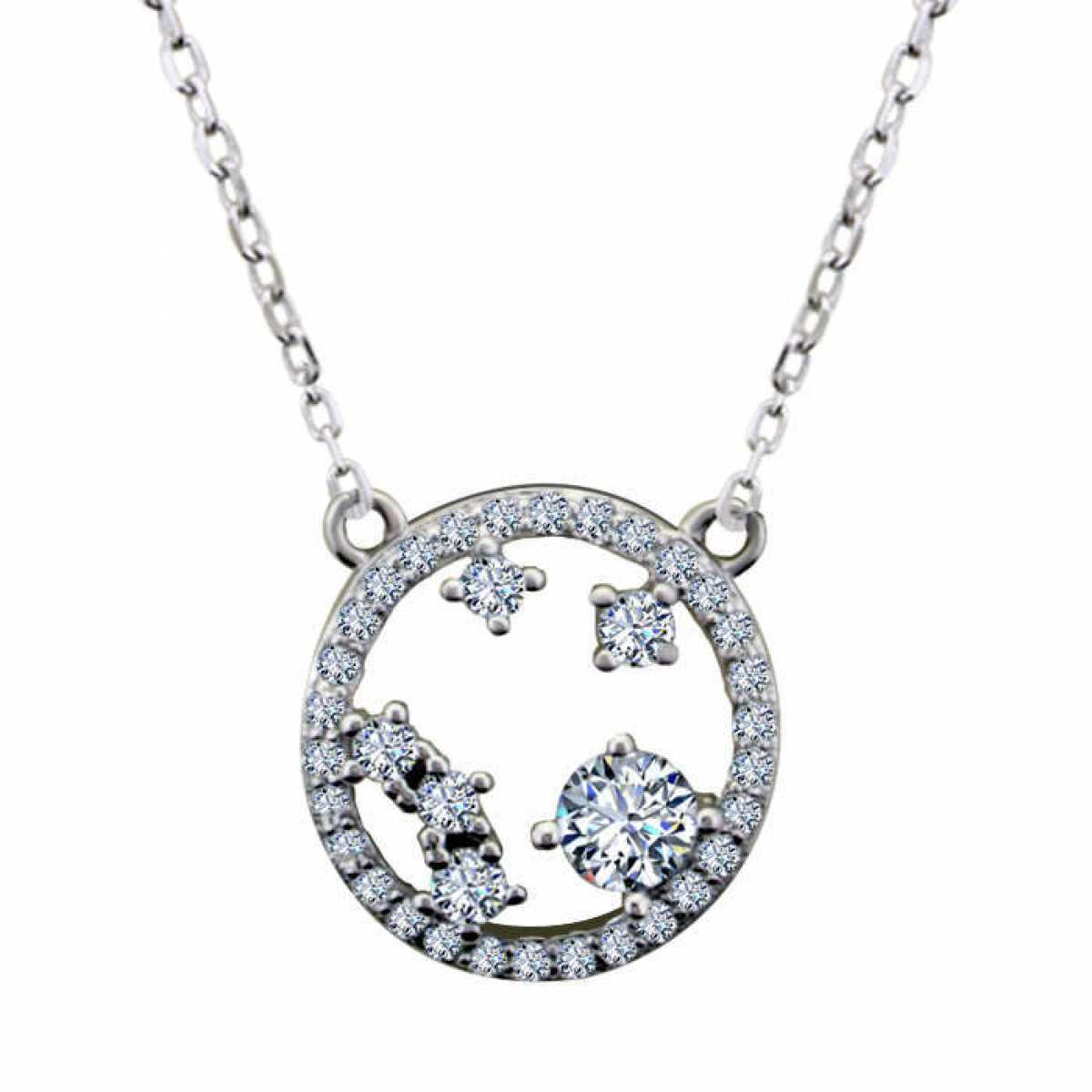 Open Circle Diamond Chain