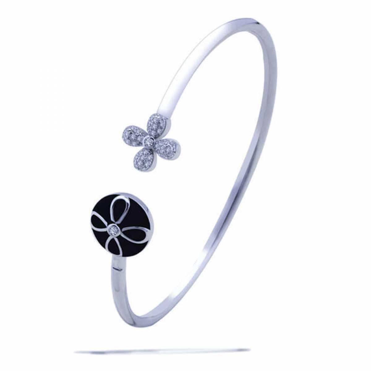 Black Colour Silver Bracelet