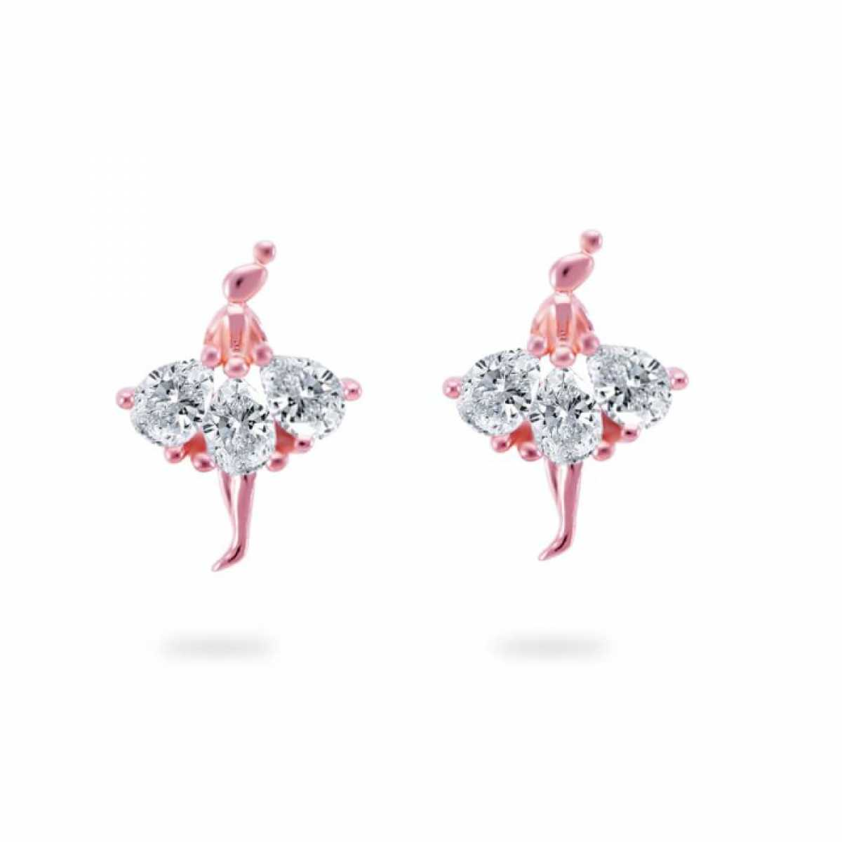 Silver Dancing Doll Earring