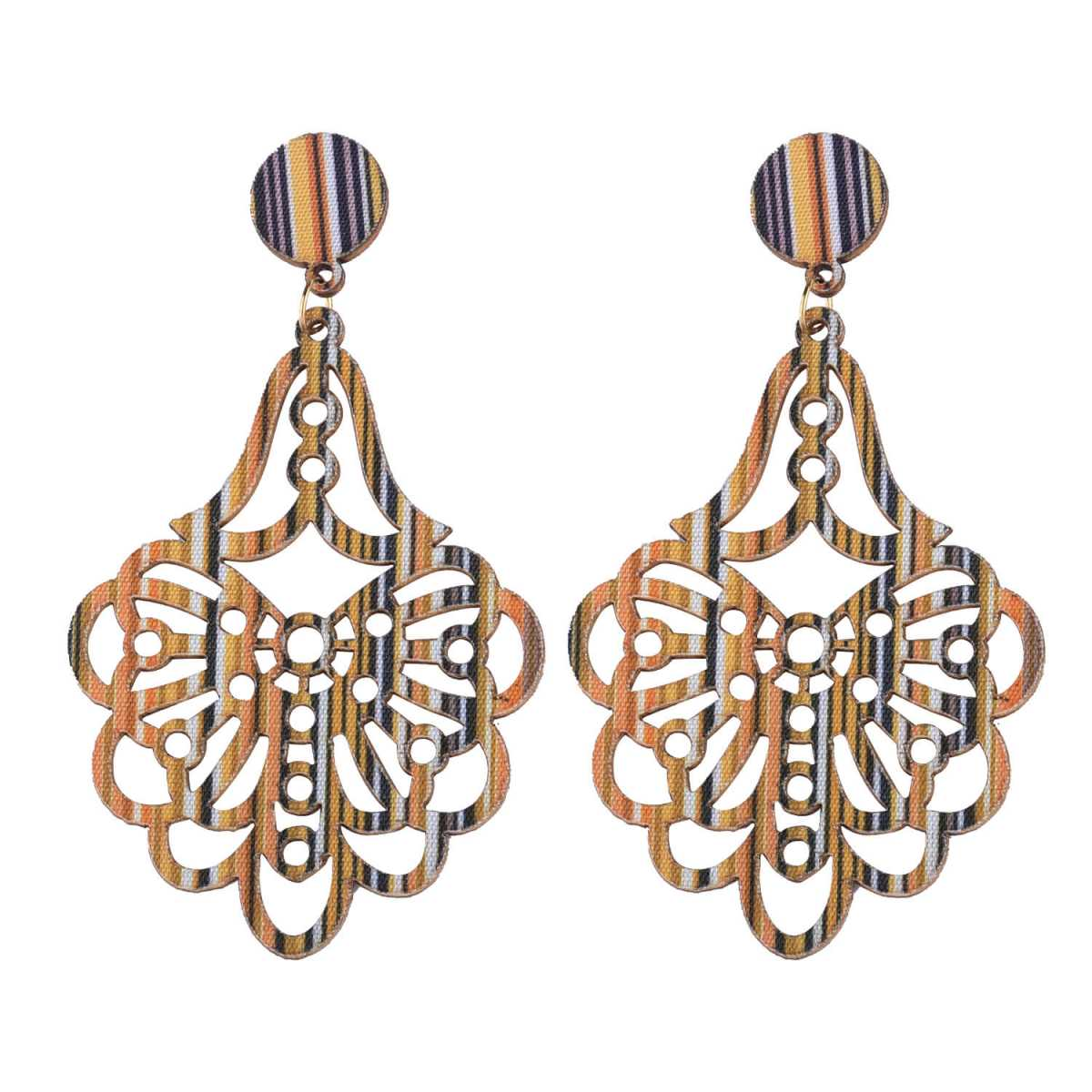 SILVER SHINE Attractive  Ethnic  Wooden Light Weight Earrings for Girls and Women.
