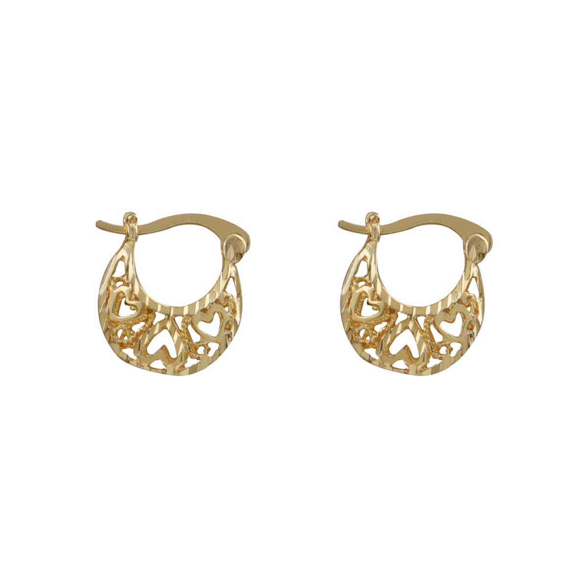 Silver Shine Appealing Gold Small Traditional Hollow Hoop Bali Earring For Women