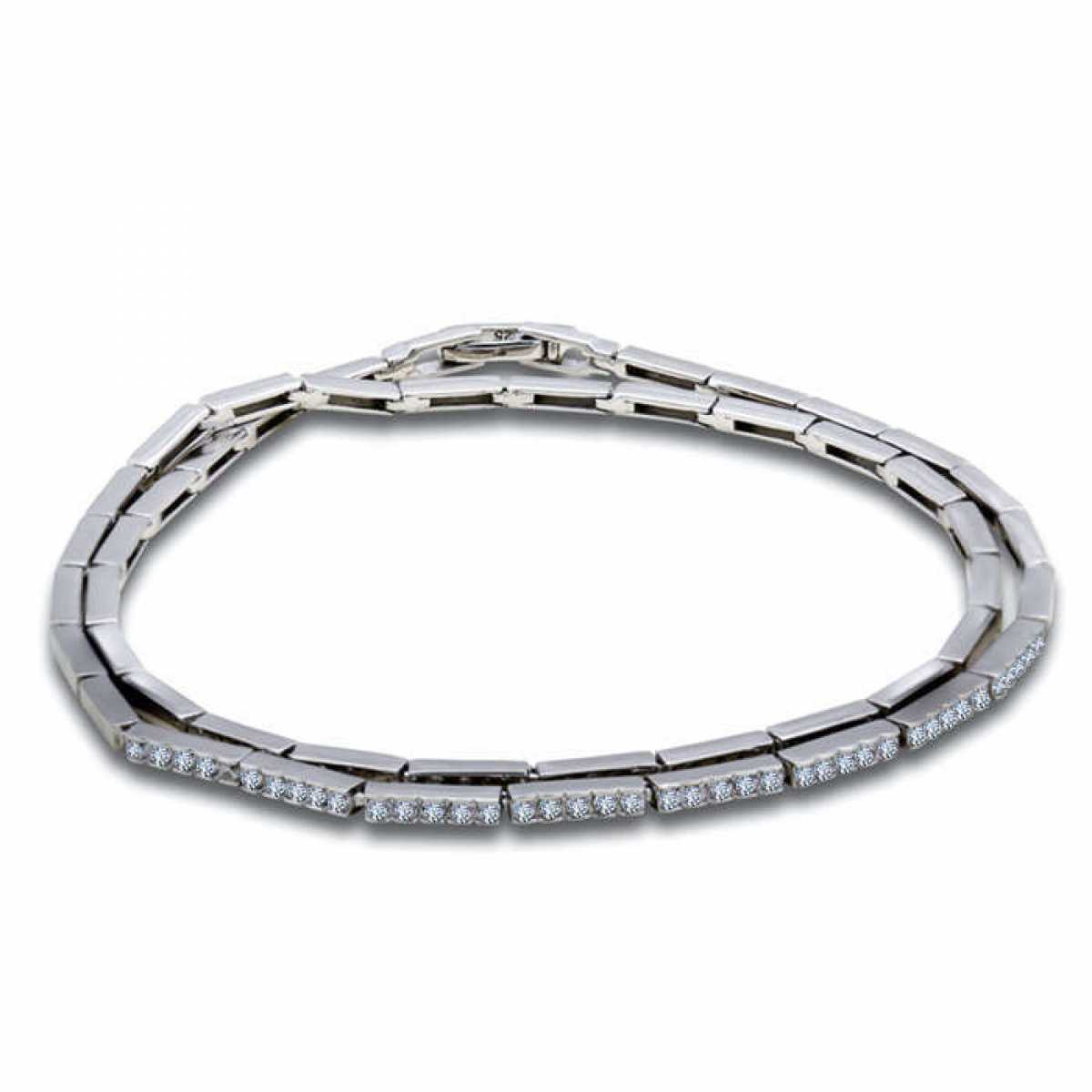 New Fashion With Solid Diamond Bracelet
