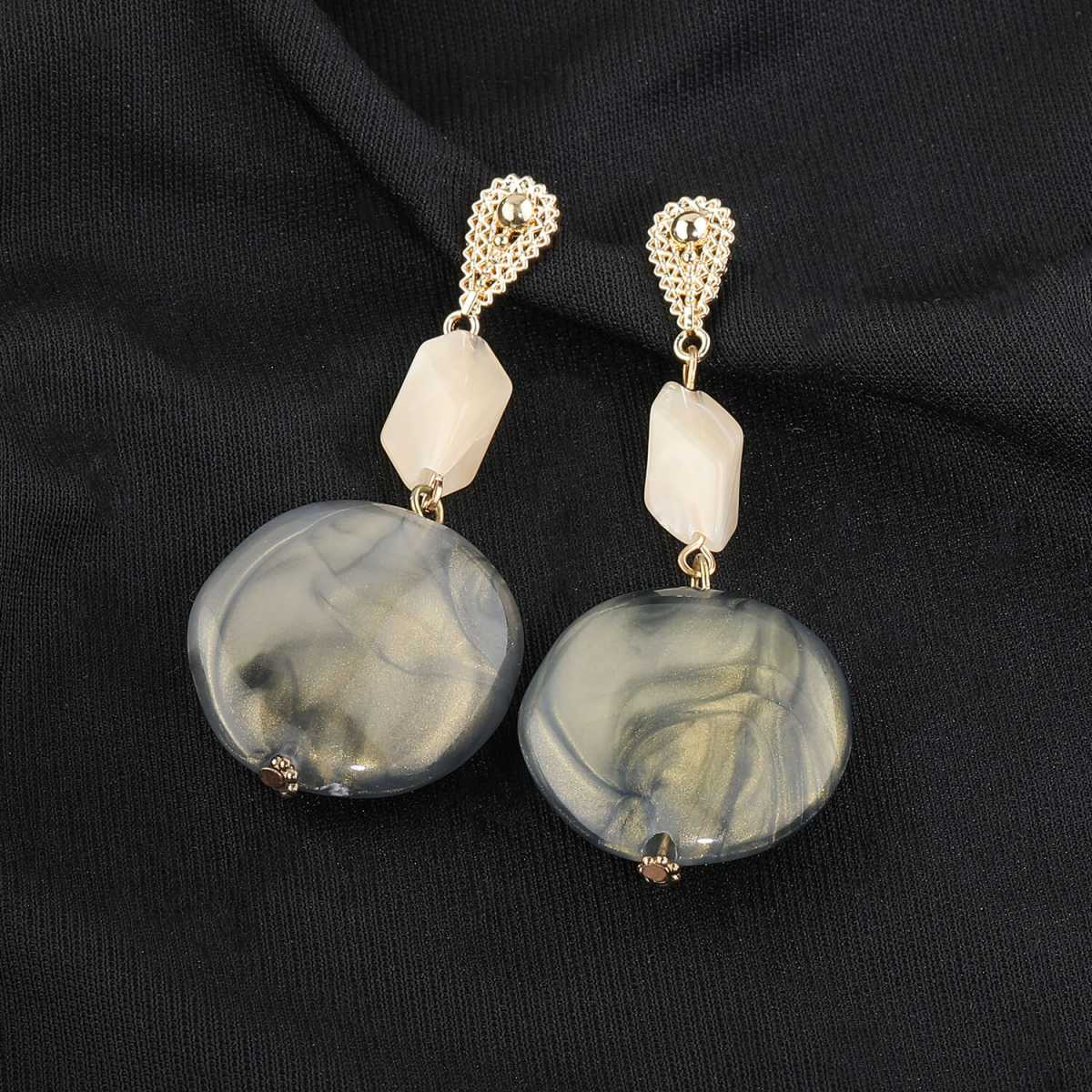 Silver Shine Multi Colour Party Wear Stone Drop Earring For Girls And Women Jewellery