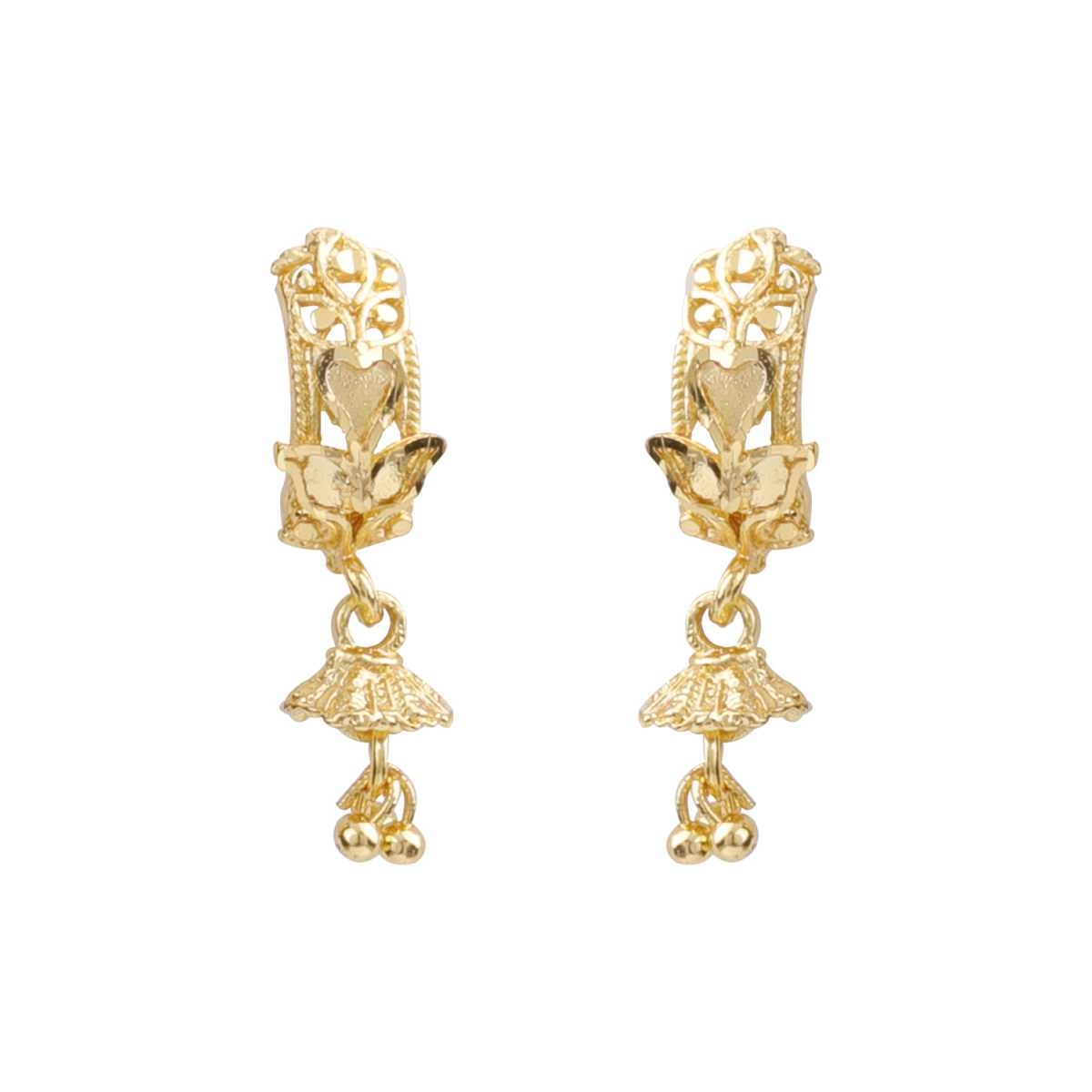 Silver Shine Trendy Gold Stylish Ethnic Traditional Look Drop Earring For Women