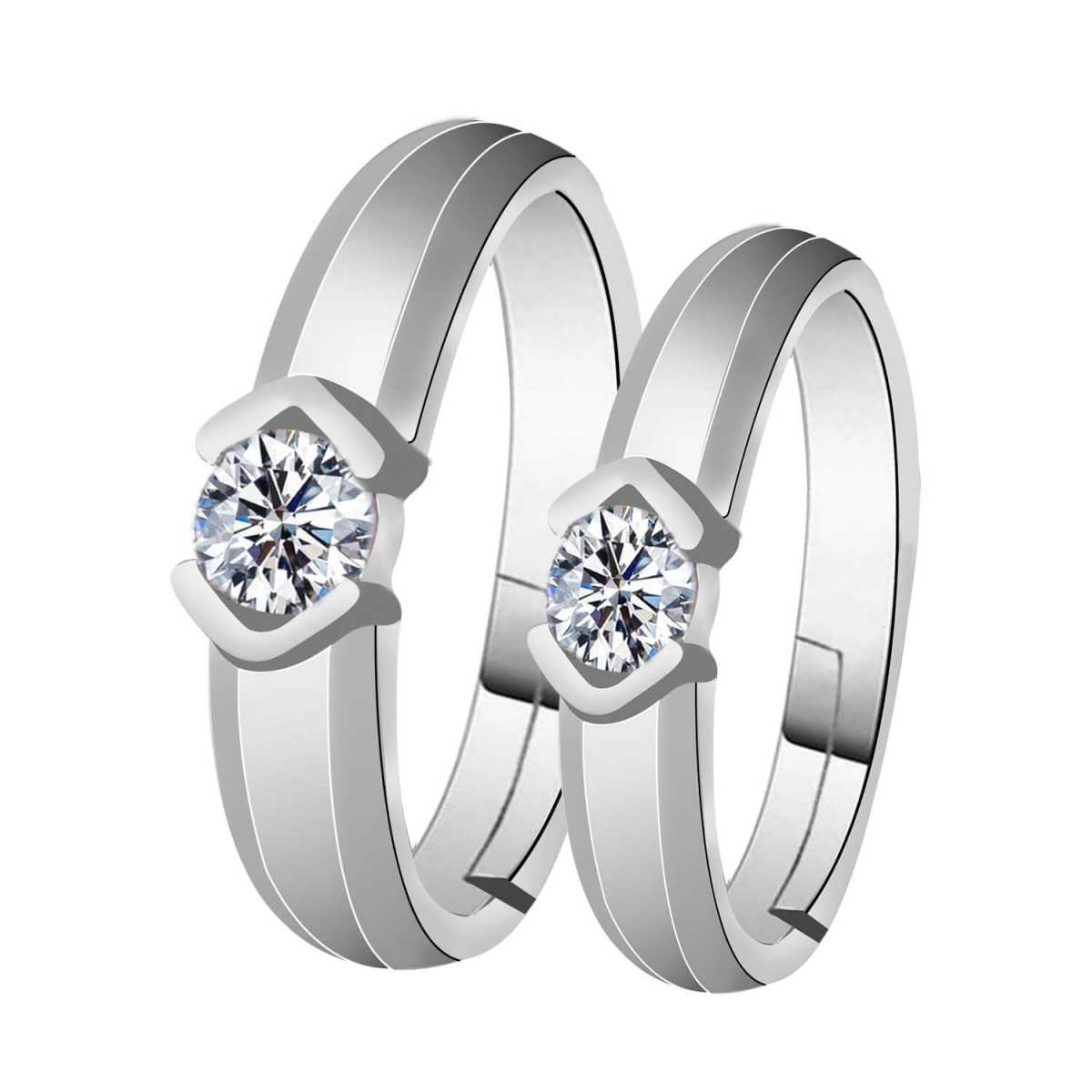 Silverplated  Stylist couple ring For Men And Women Jewellery