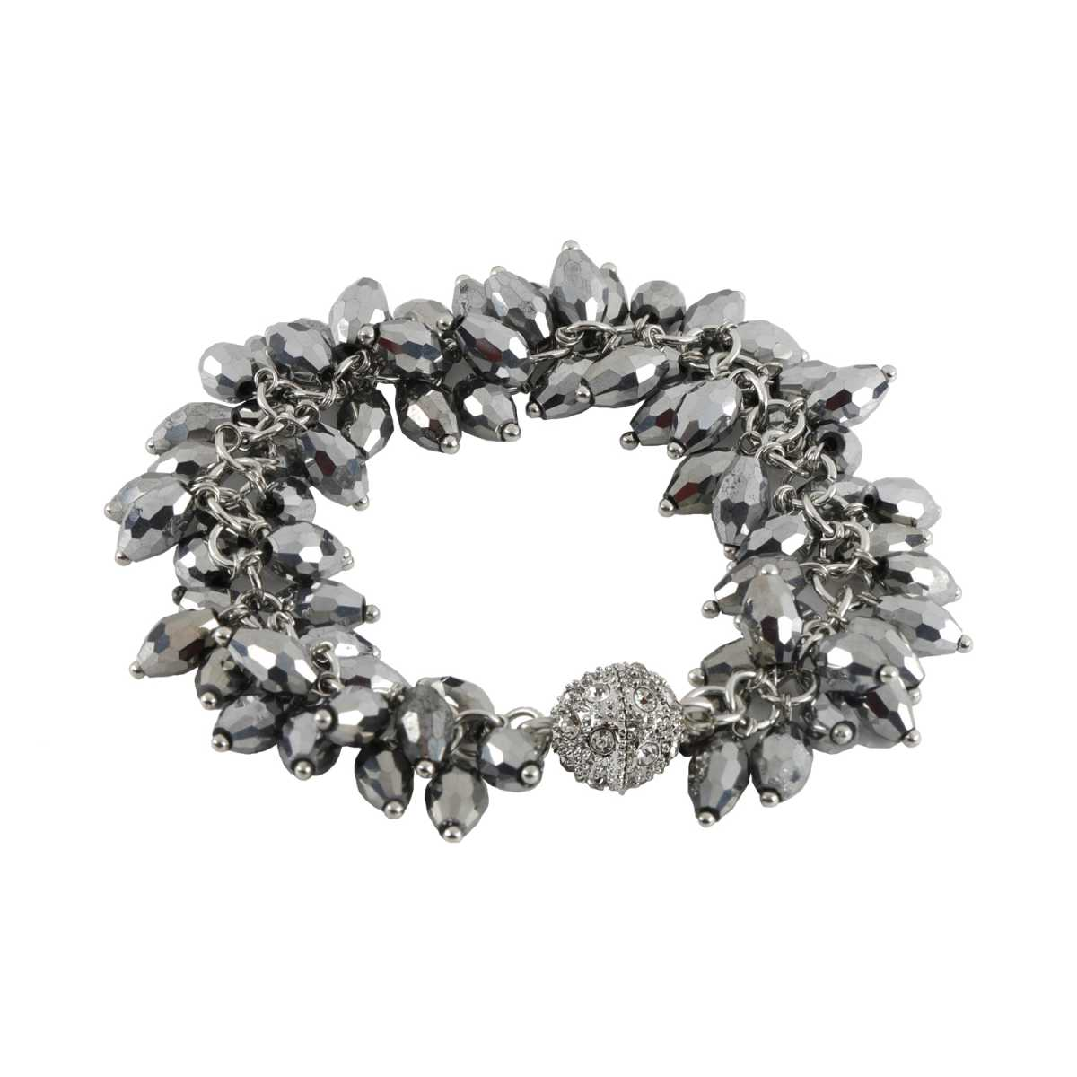 Silver Pearl Diamond Bracelet For Girls And Women