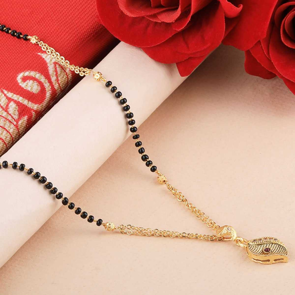 SILVER SHINE Party Wear Delicated Gold Plated Mangalsutra For Women