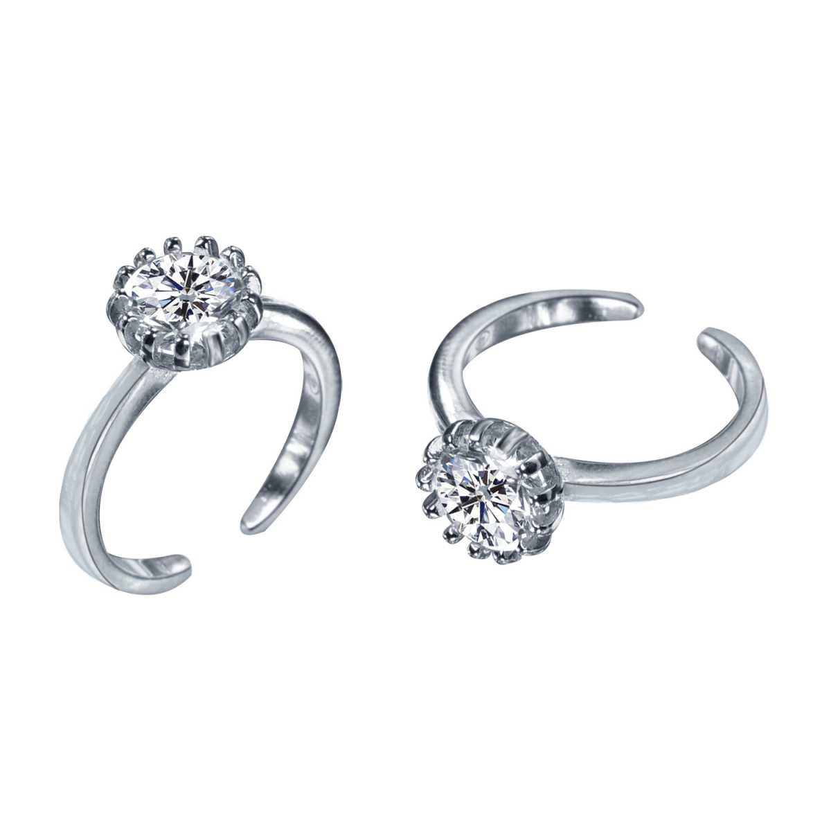 Trendy Single Big Diamond  Toe Rings