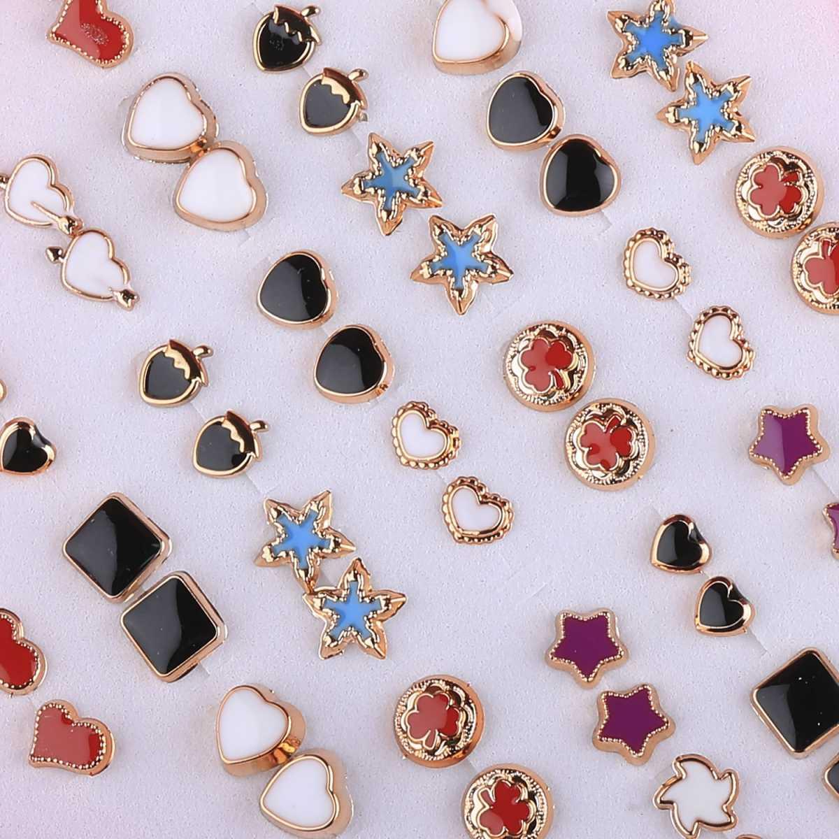 Silver Shine Golden look Earring Set of 36 Earrings for Women…