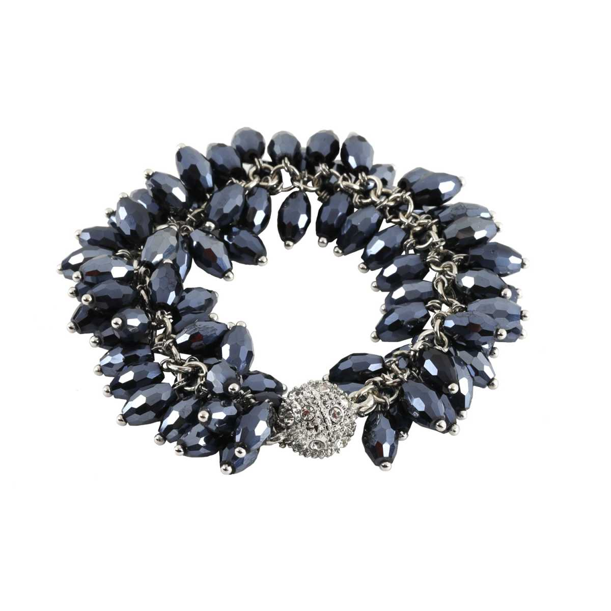 Black Pearl Diamond Bracelet For Girls And Women