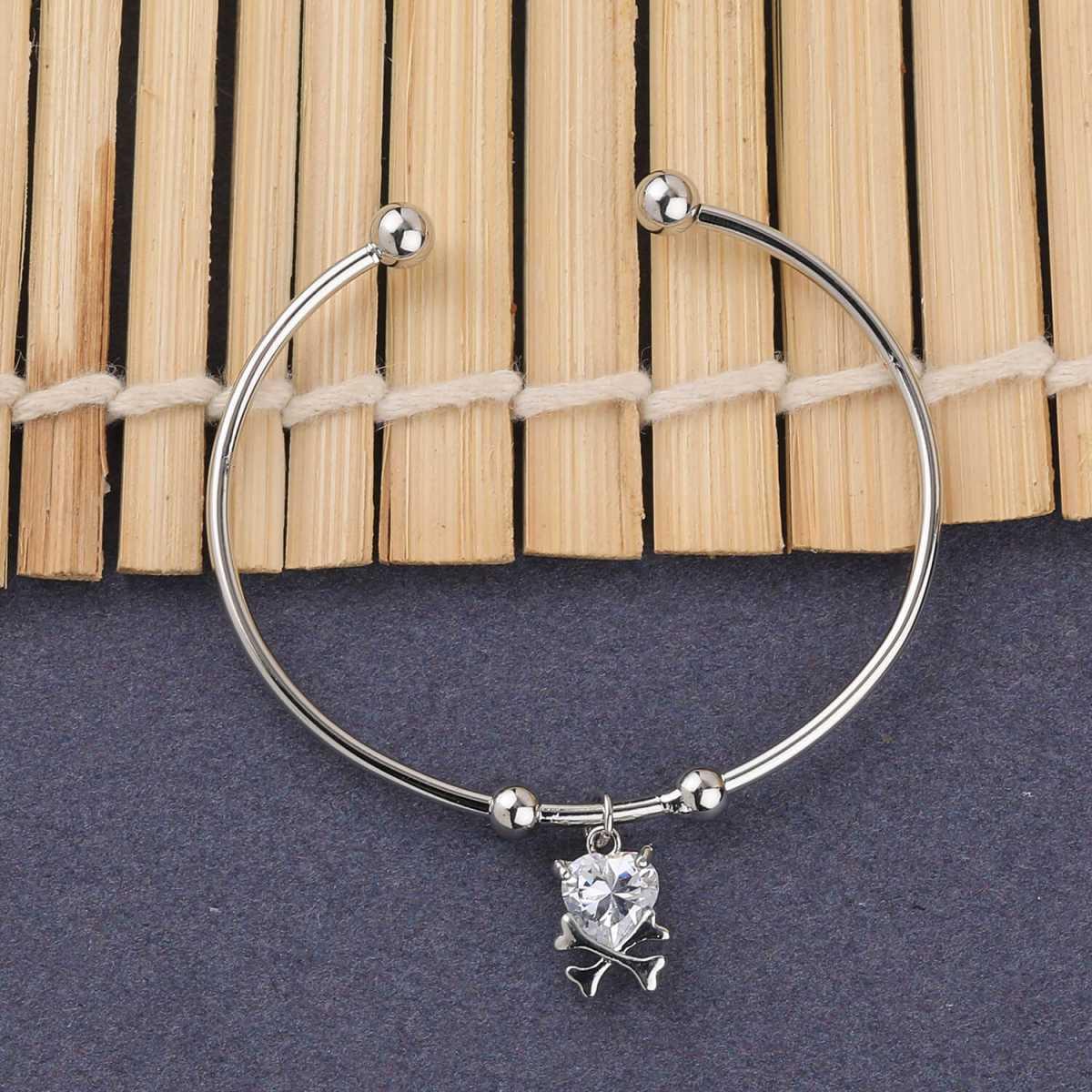 SILVER SHINE Antique Designer Adjustable Bracelet With Diamond For Women Girls