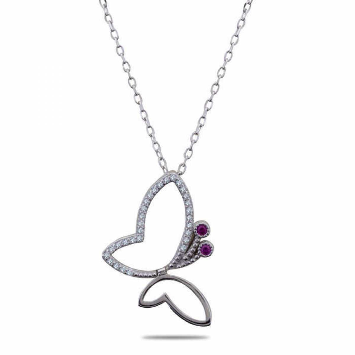 Pink & Silver Diamond Chain