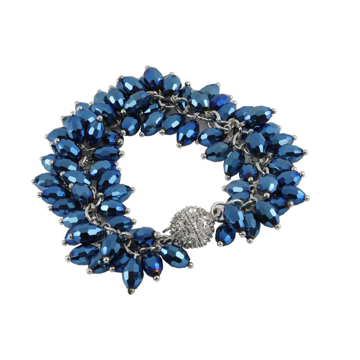 Sparkling Blue Pearl Diamond Bracelet For Girls And Women