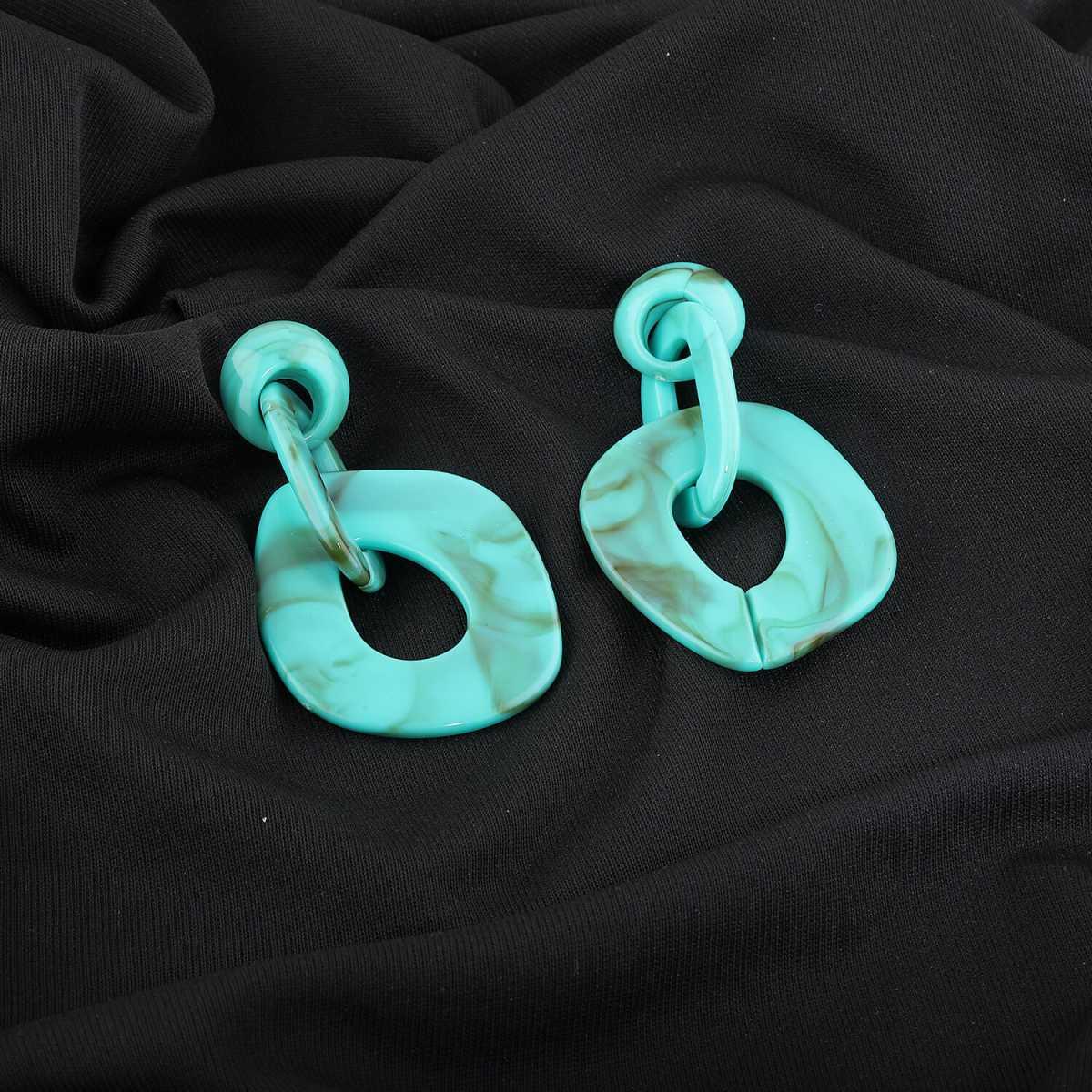 Silver Shine Elegant Ocean Blue Designer Partywear Earring For Girls And Women Jewellery