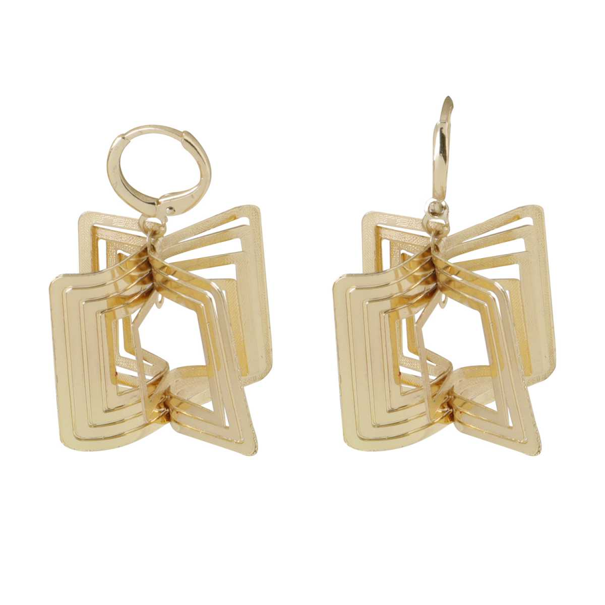 Silver Shine Facinating Golden Square Clip On Bali Earring for Women