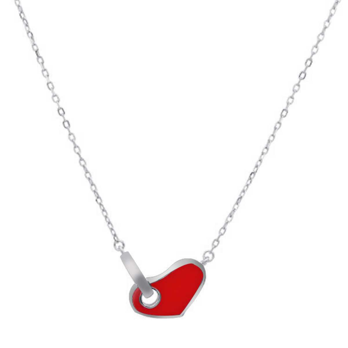 Love Key For Heart Sterling Silver  Chain