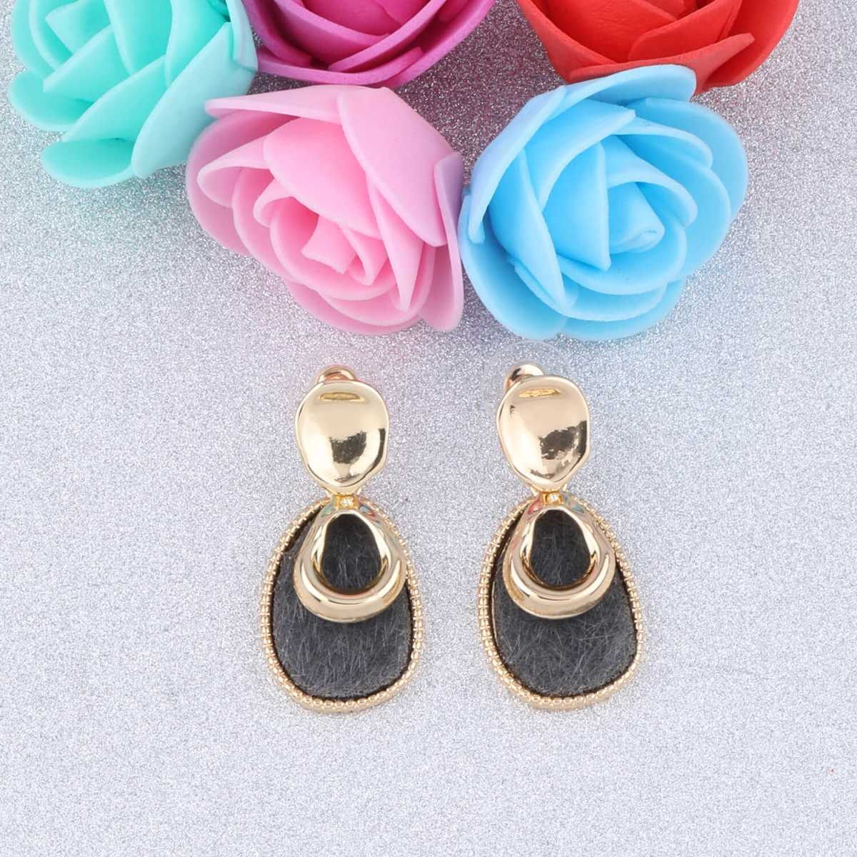 SILVER SHINE Exclusive Gold Plated Charm Long  Earring For Women Girl