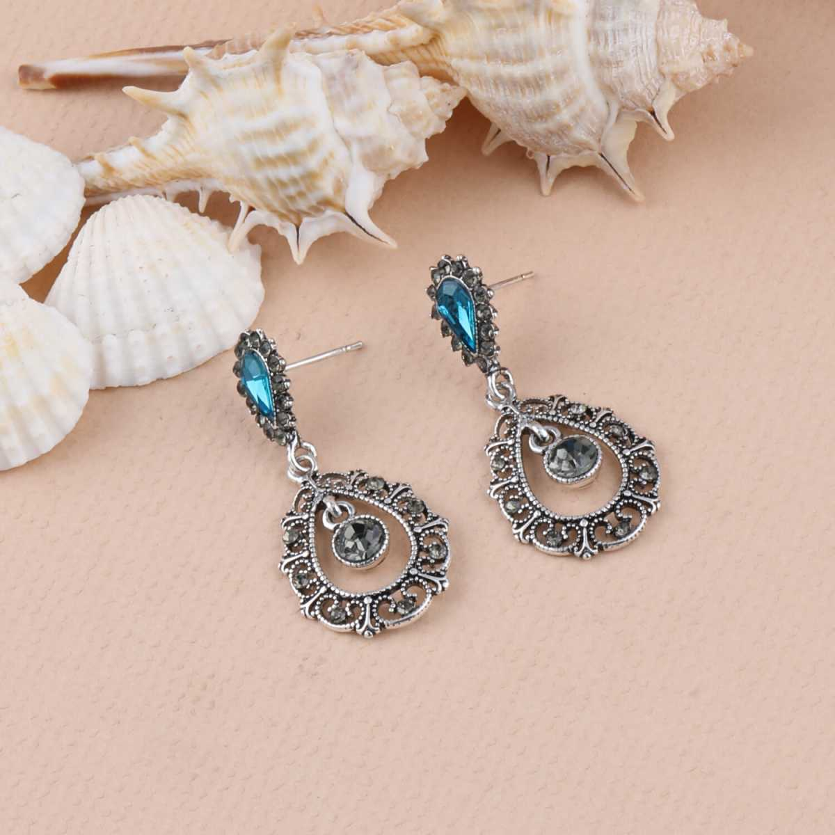 SILVER SHINE Oxidised silver Party Wear Dangle Earring For Women Girl