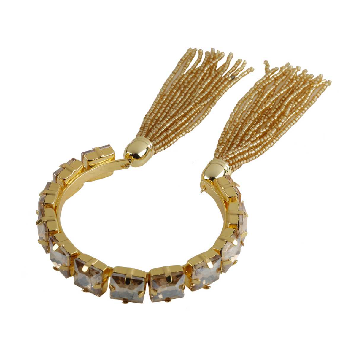Elegant Gold Colour Stone Harmony Coff And Kada Bracelet For Girls And Women