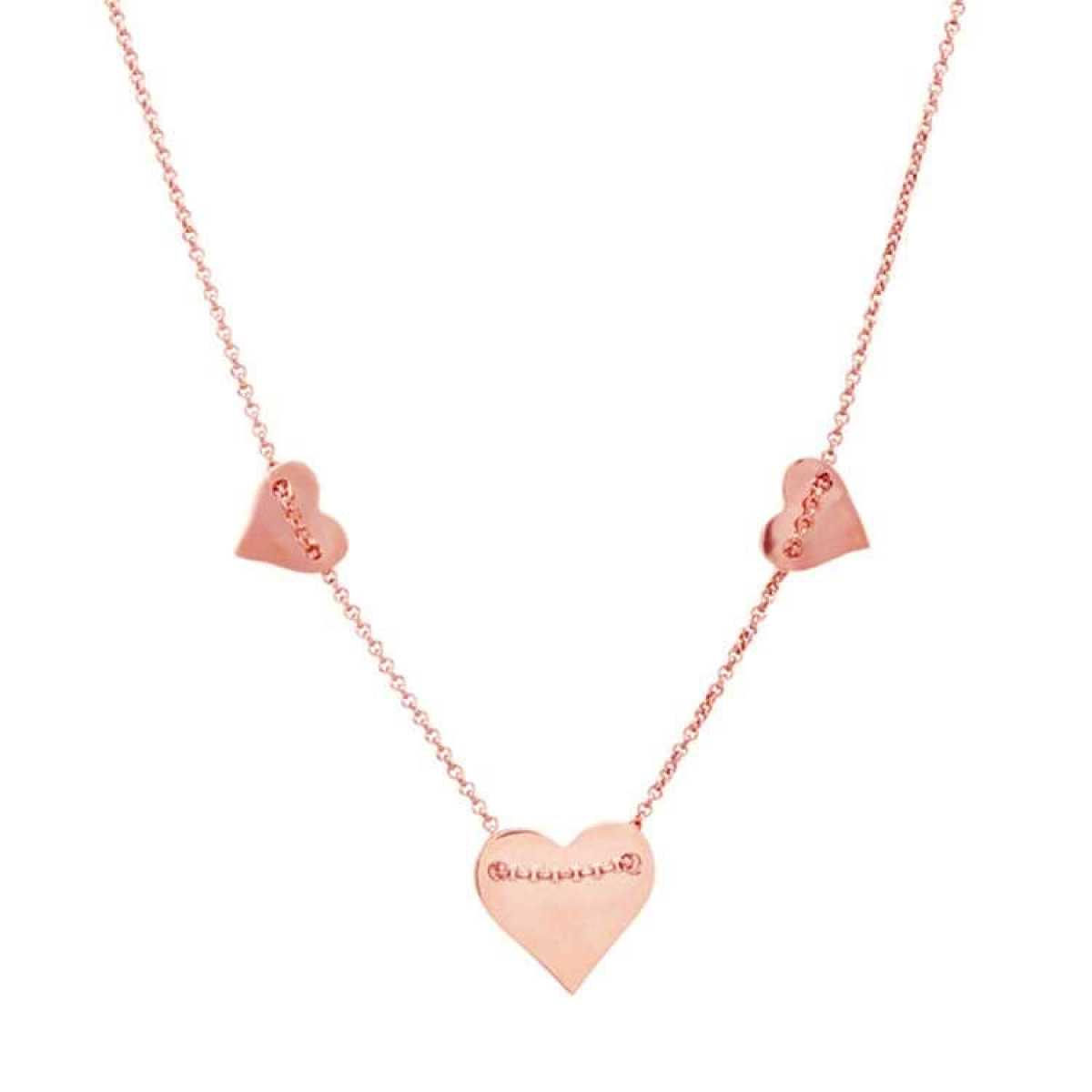 Three Rose Heart  Chain